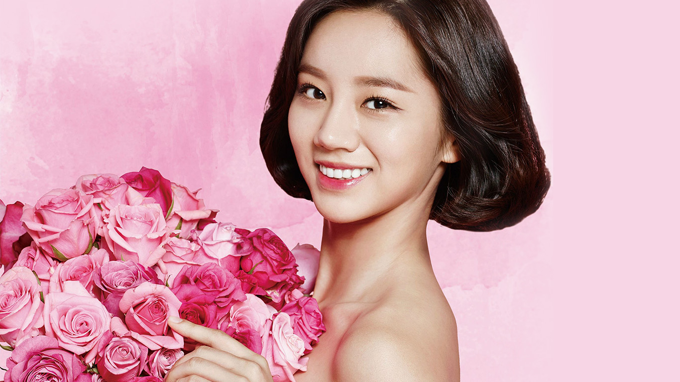 desktop-wallpaper-laptop-mac-macbook-air-hj14-flower-hyeri-cute-pink-kpop-girl-wallpaper