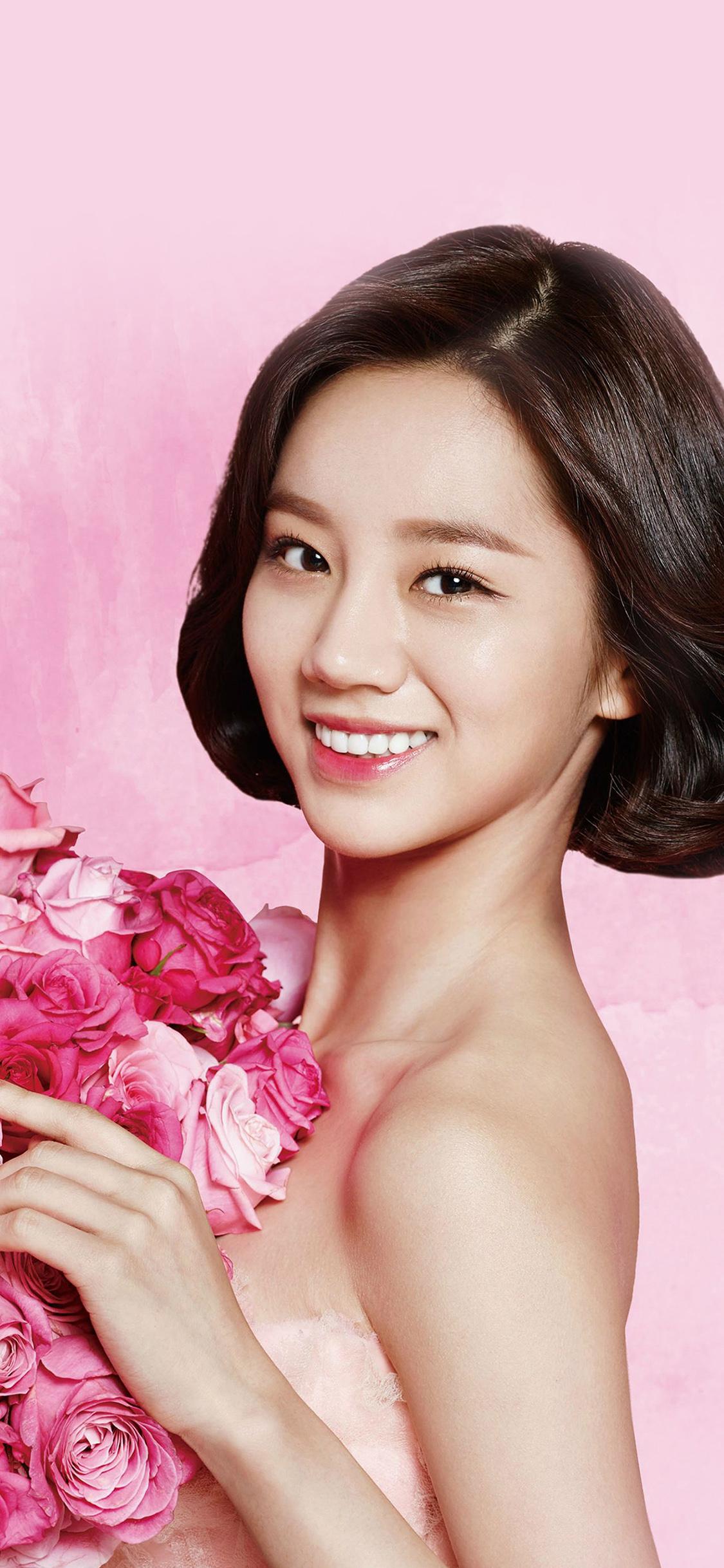iPhoneXpapers.com-Apple-iPhone-wallpaper-hj14-flower-hyeri-cute-pink-kpop-girl