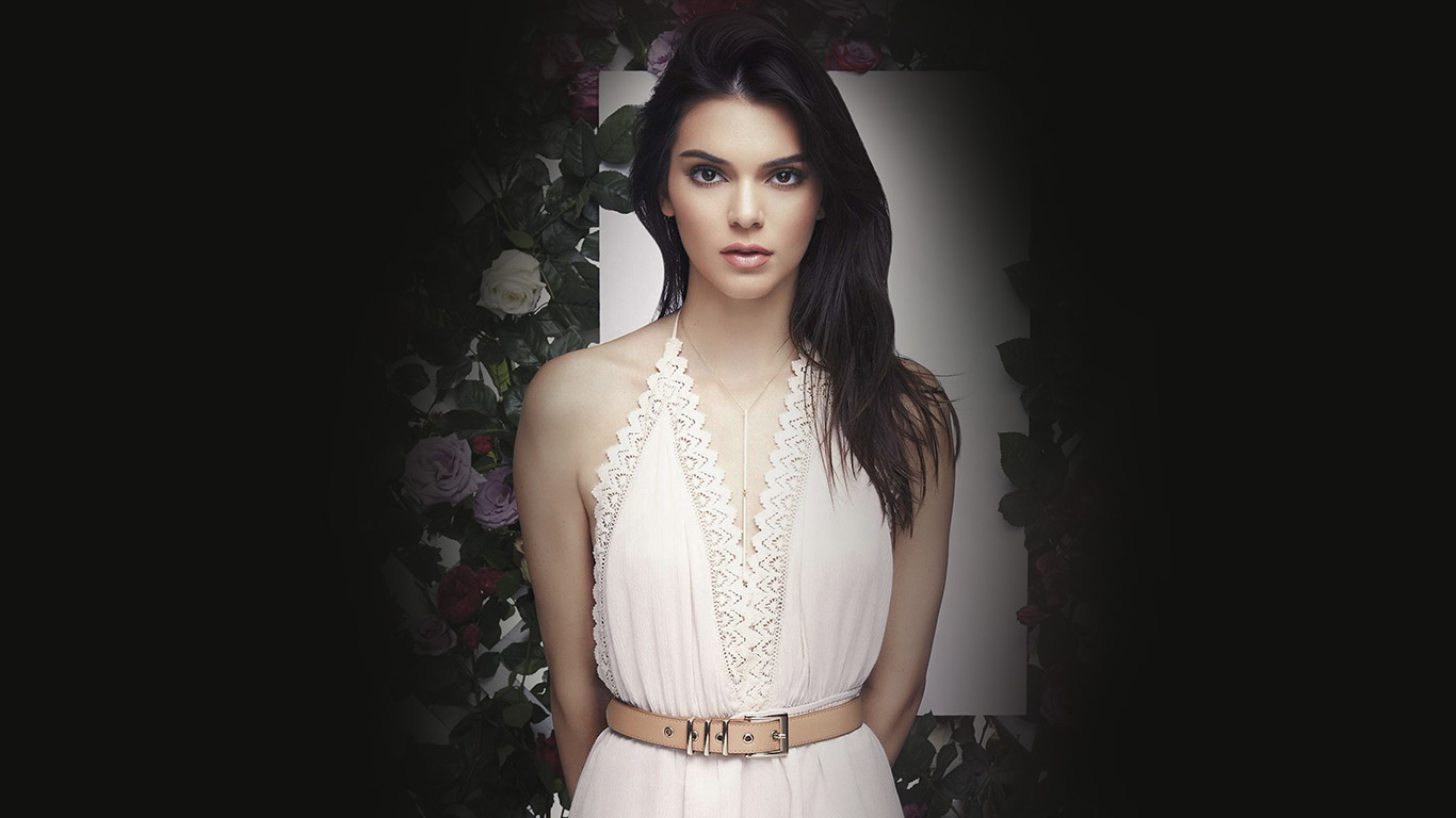 wallpaper-desktop-laptop-mac-macbook-hj90-kendall-jenner-flower-dark