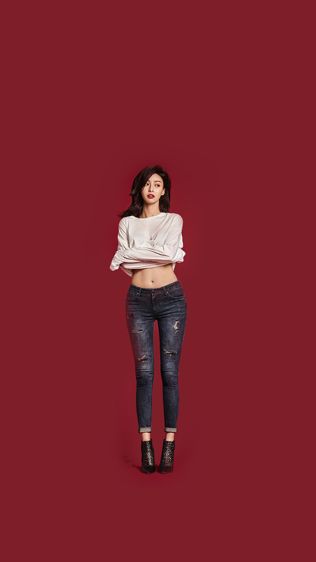iphone7papers | iphone7 wallpaper | hk02-kpop-girl-kwon-nara-red