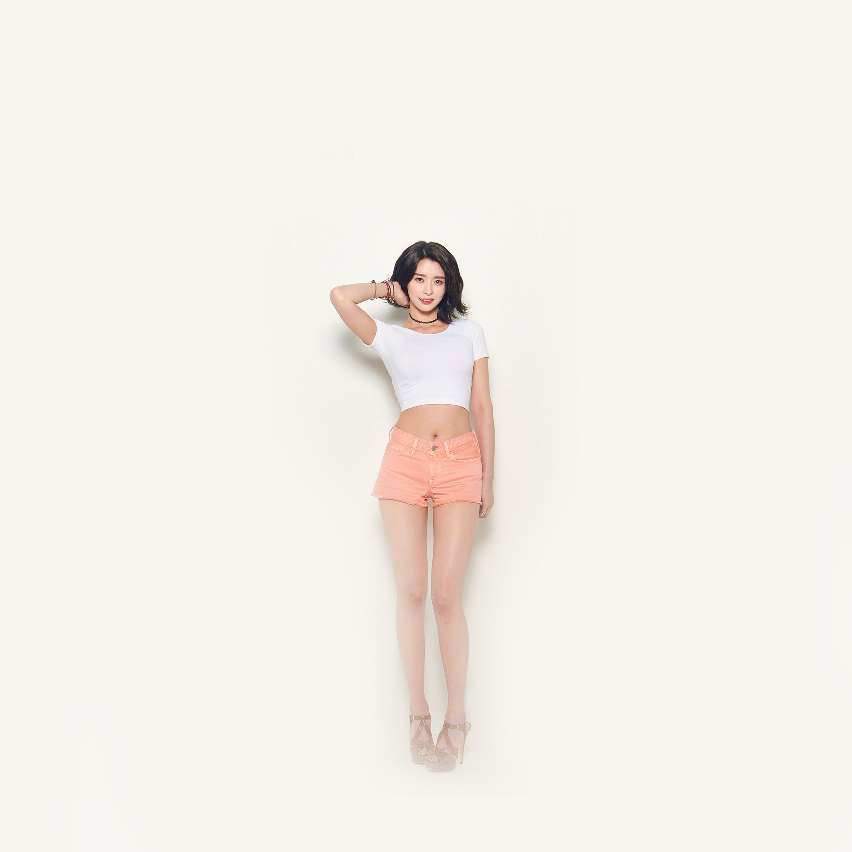 Hk23 Nara Kwon White Simple Girl Kpop Wallpaper
