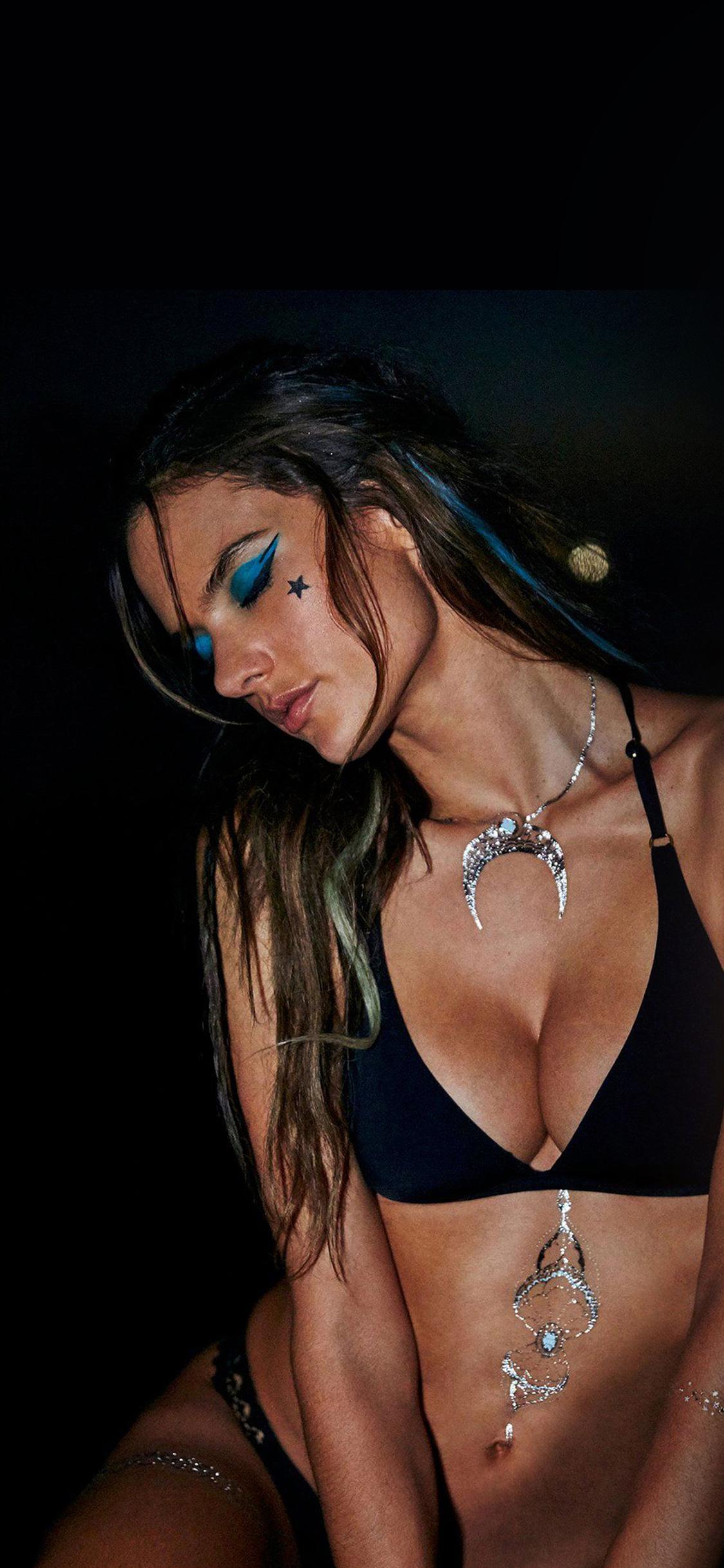 hk71 alessandra ambrosio dark girl victoria model wallpaper