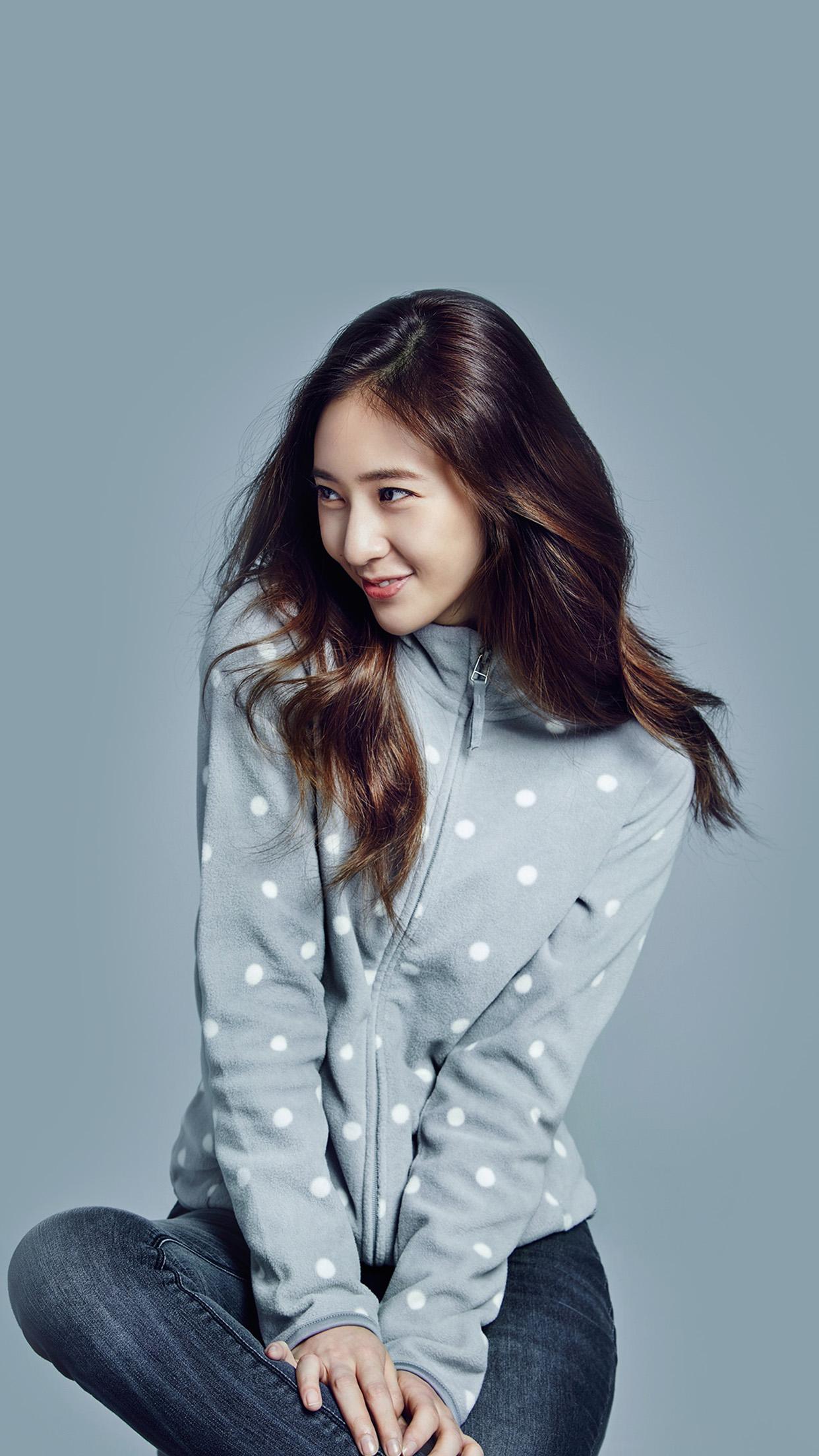 Hl01 Crystal Kpop Girl Fx Blue Wallpaper
