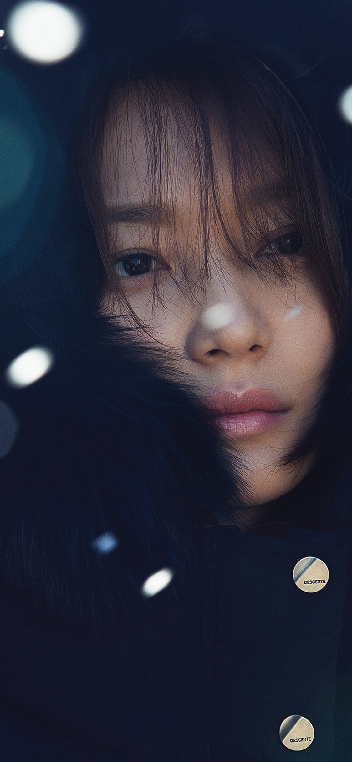 iPhoneXpapers.com-Apple-iPhone-wallpaper-hl07-shin-mina-kpop-winter-snow-celebrity