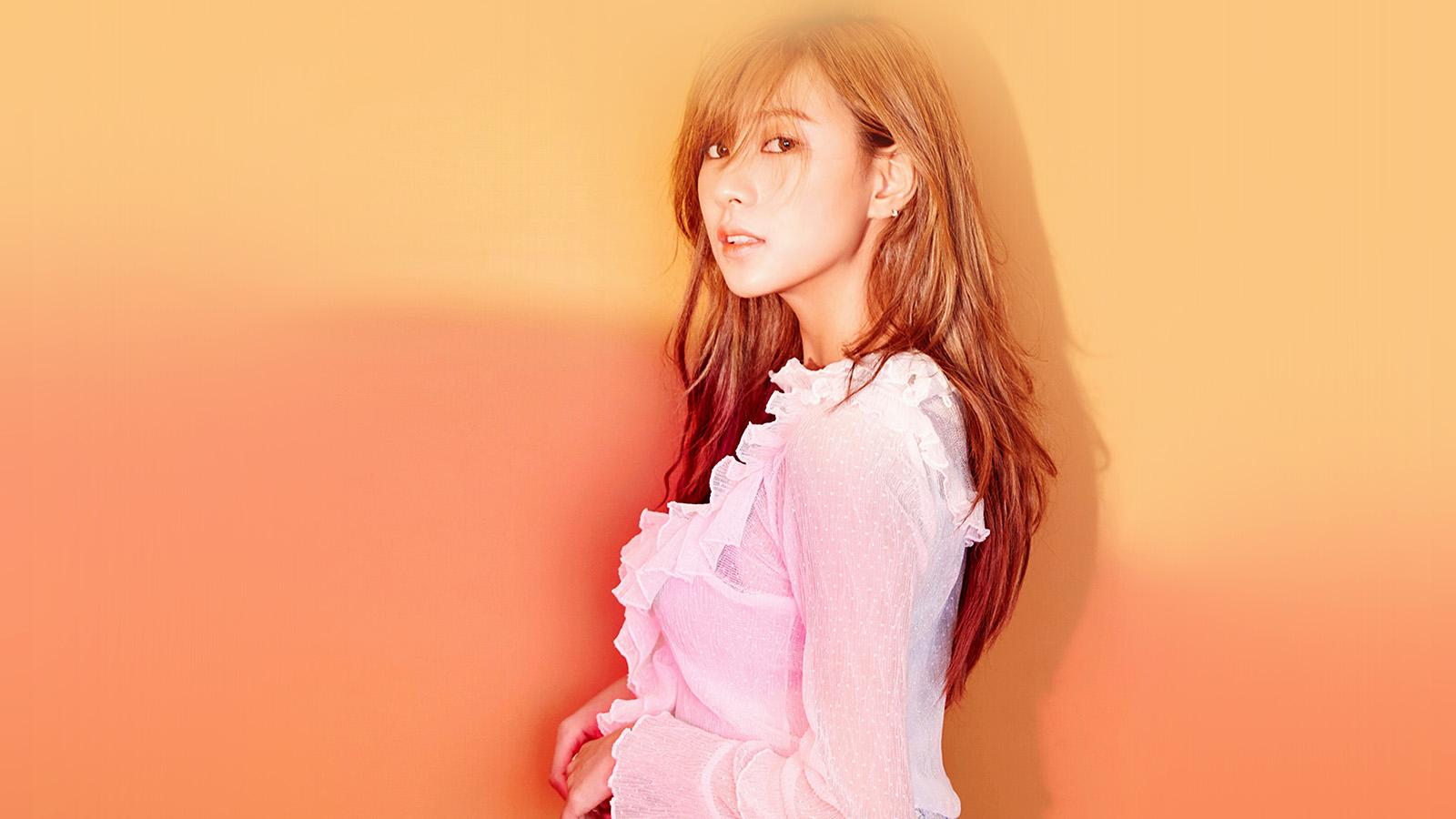 Hl12 Kpop Girl Apink Hayoung Orange Red Wallpaper