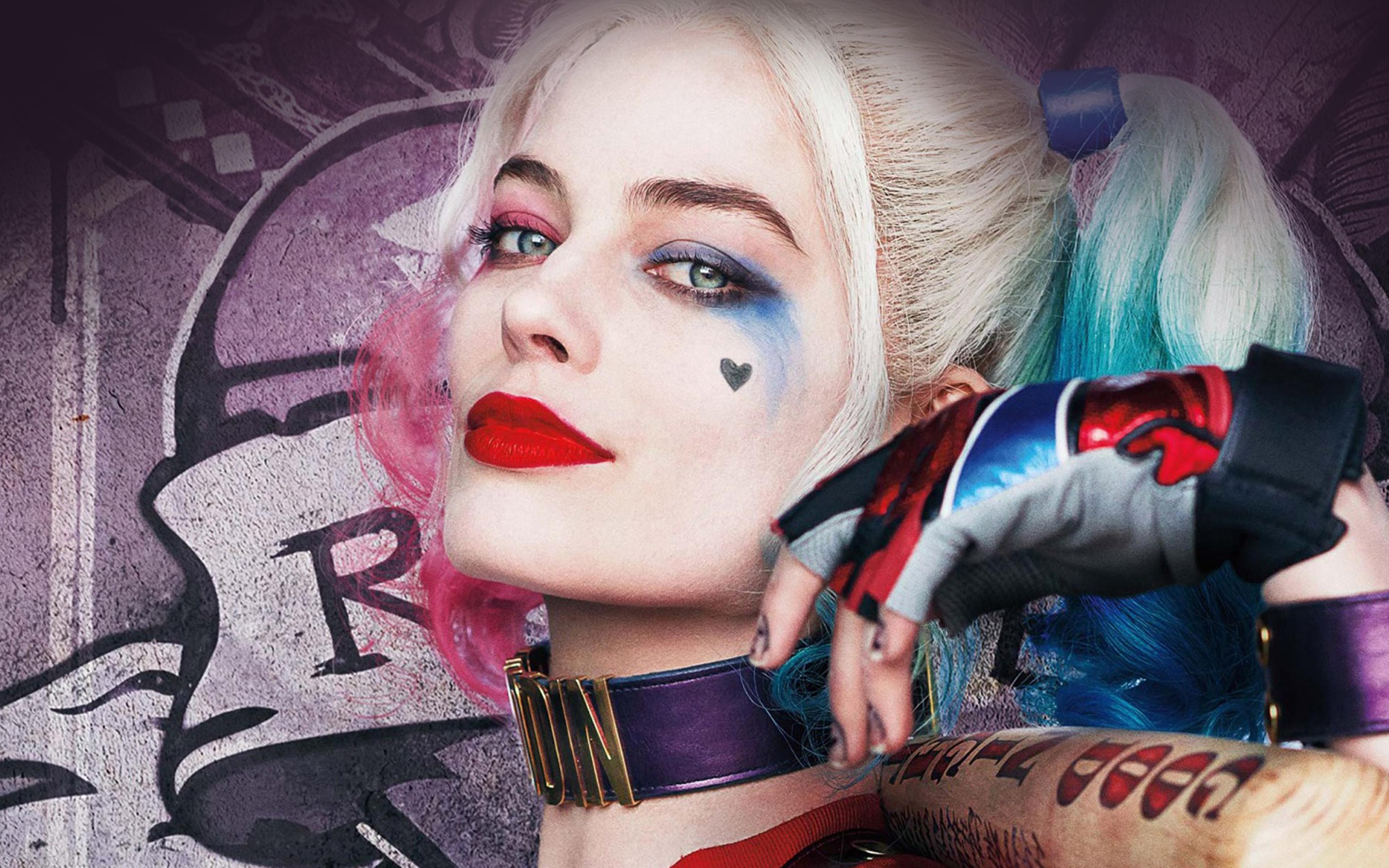 Hl21 Harley Quinn Hero Girl Joker Suicide Squad Wallpaper