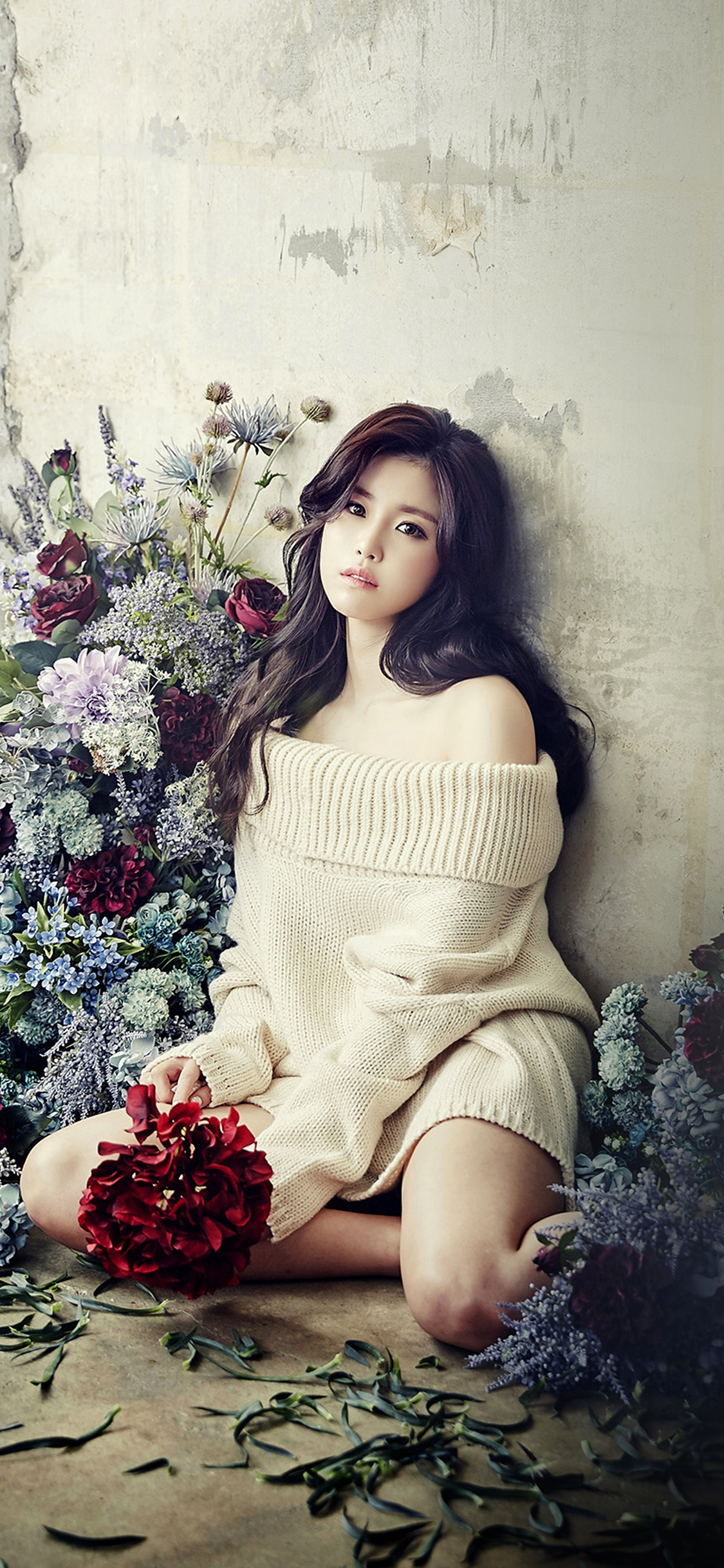 iPhoneXpapers.com-Apple-iPhone-wallpaper-hl29-flower-girl-hyosung-girl-kpop-celebrity