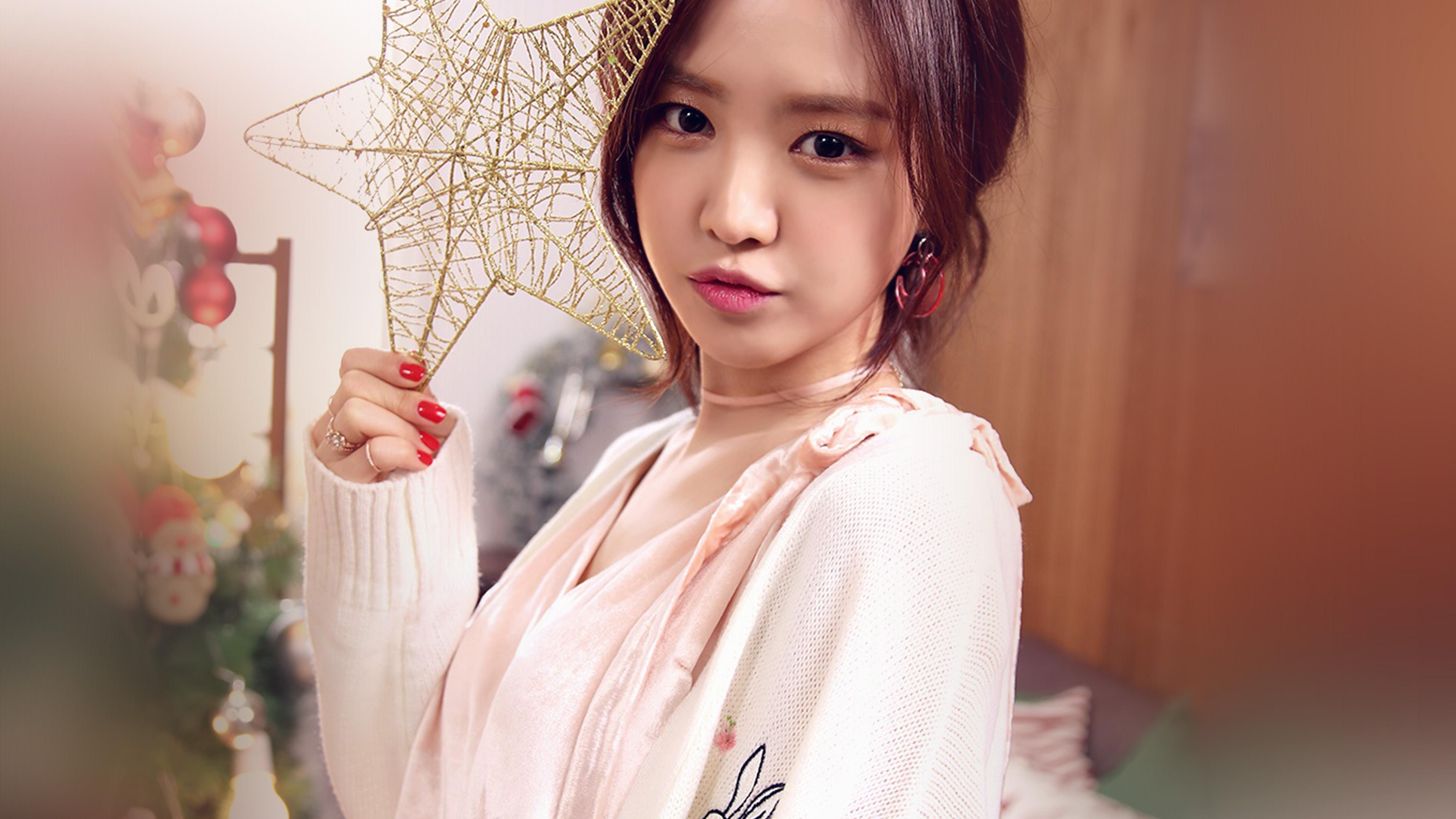 Hl46 Kpop Girl Cute Christmas Apink Wallpaper