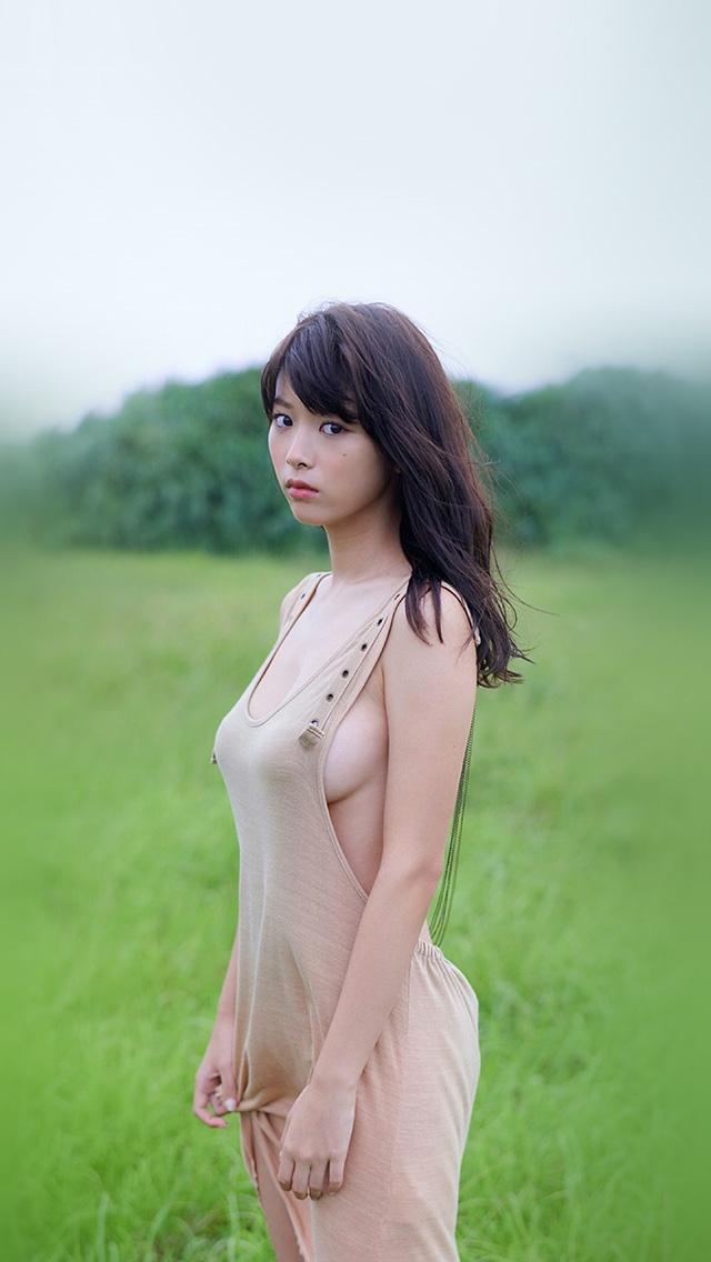 freeios8.com-iphone-4-5-6-plus-ipad-ios8-hl58-japanese-girl-asian-green-cute