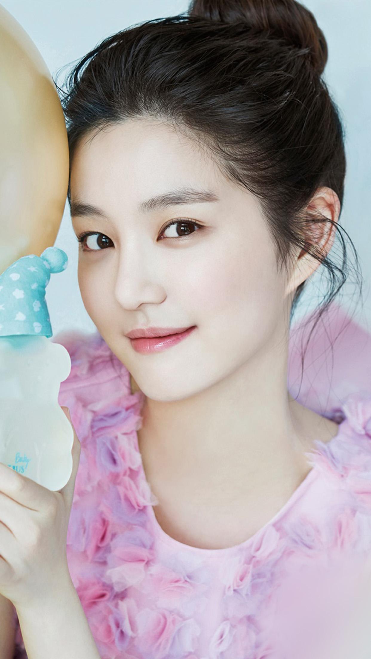 Hl75 Kpop Girl White Cute Wallpaper