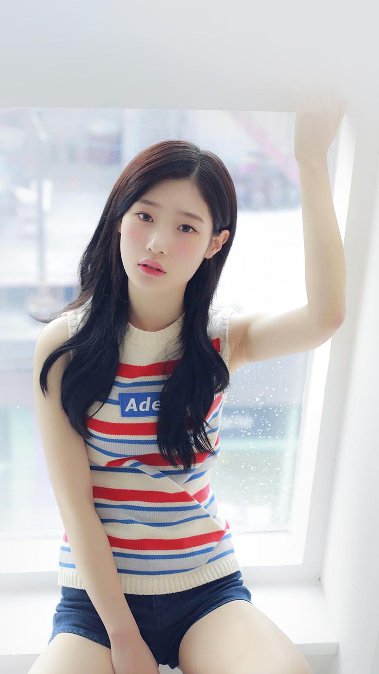 Hl85 Chaeyeon Ioi Kpop Girl White Cute