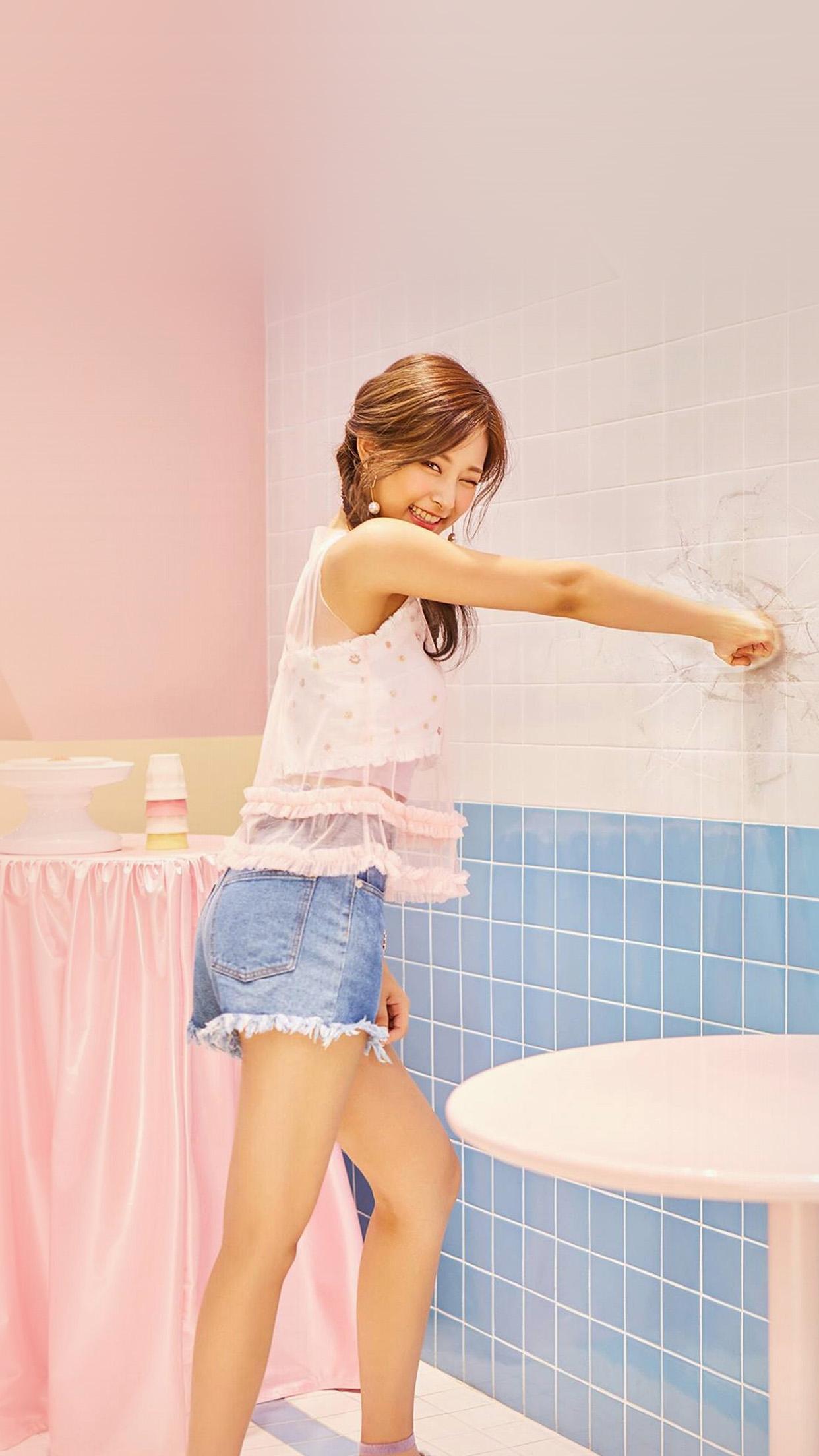 Hn09 tzuyu kpop twice girl cute pink wallpaper - 4k girl wallpaper for iphone ...