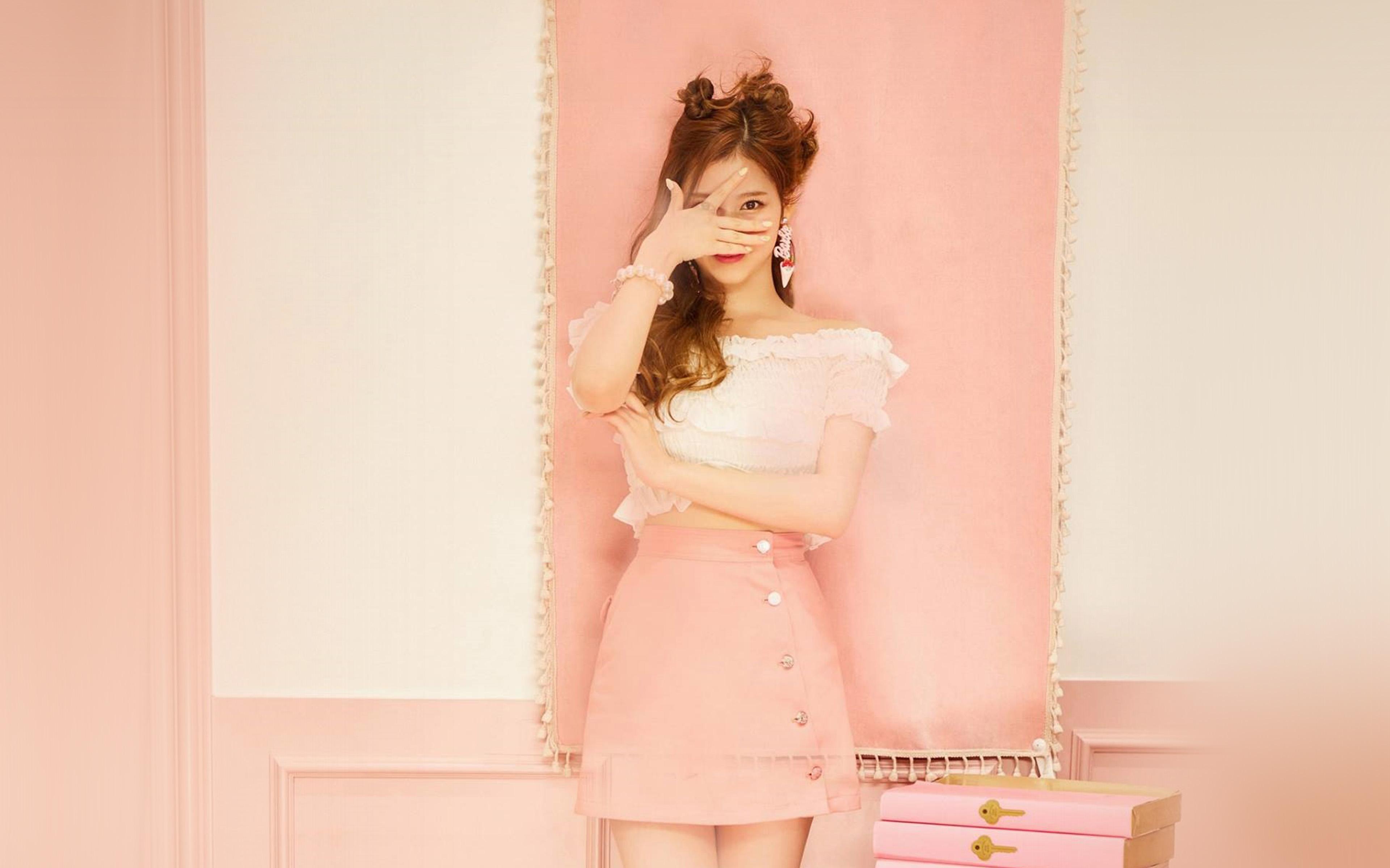 Hn12 Sana Girl Twice Kpop Cute Pink Wallpaper