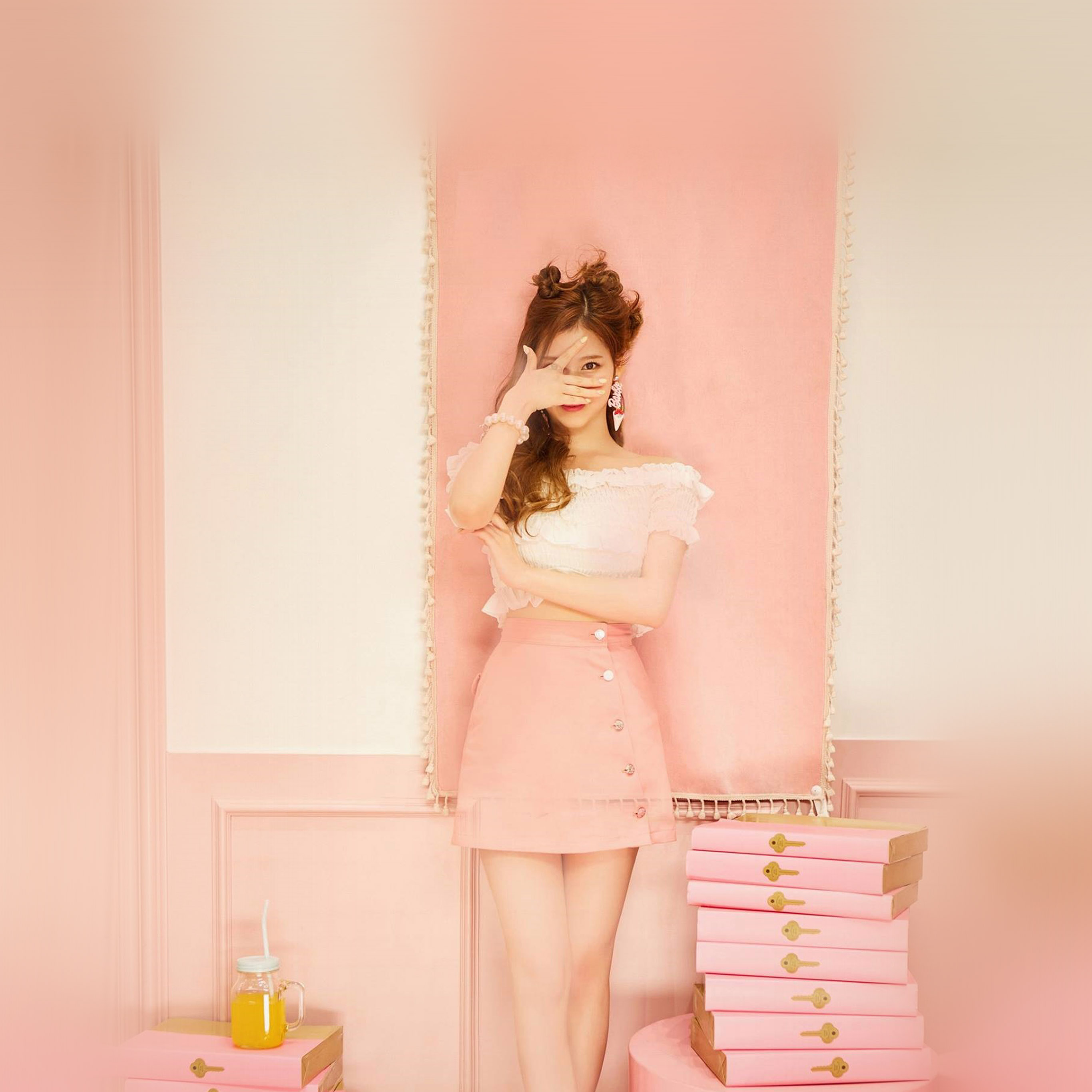 papers co android wallpaper hn12 sana girl twice kpop cute pink
