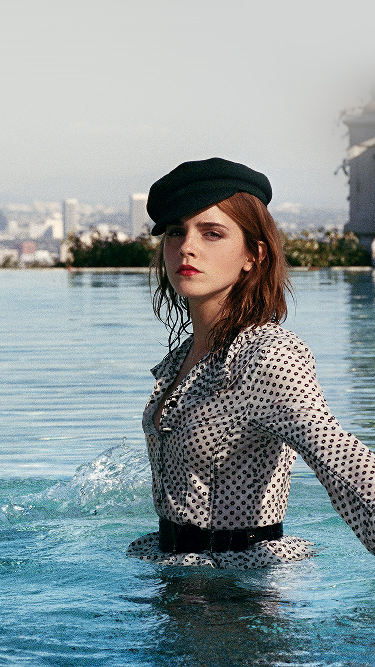 iPhonepapers.com-Apple-iPhone8-wallpaper-hn23-emma-watson-water-summer-actress