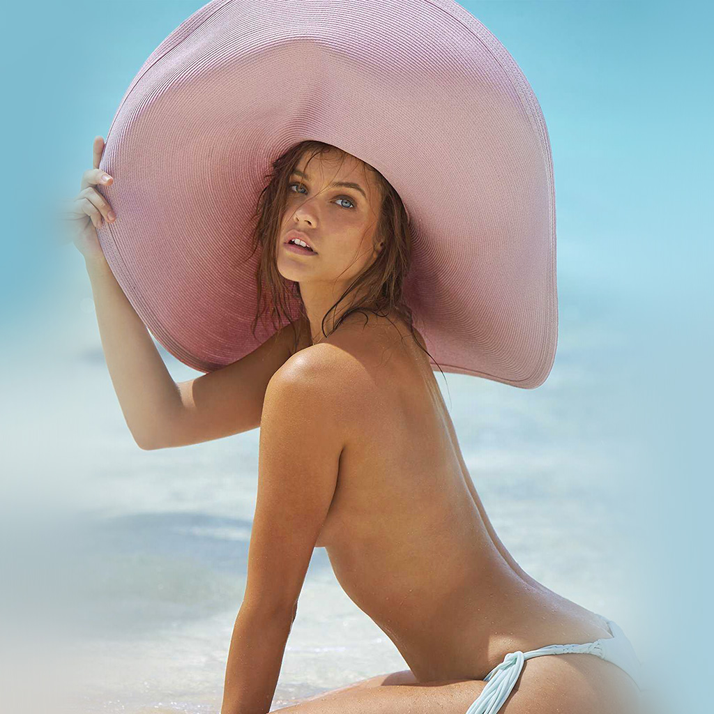 wallpaper-hn56-barbara-palvin-beach-summer-girl-model-wallpaper