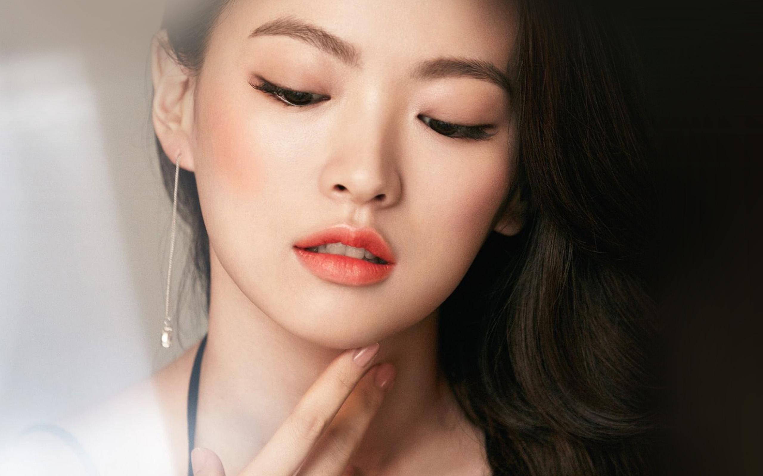 Hn65 asian girl face dark dress wallpaper - Asian girl 4k ...