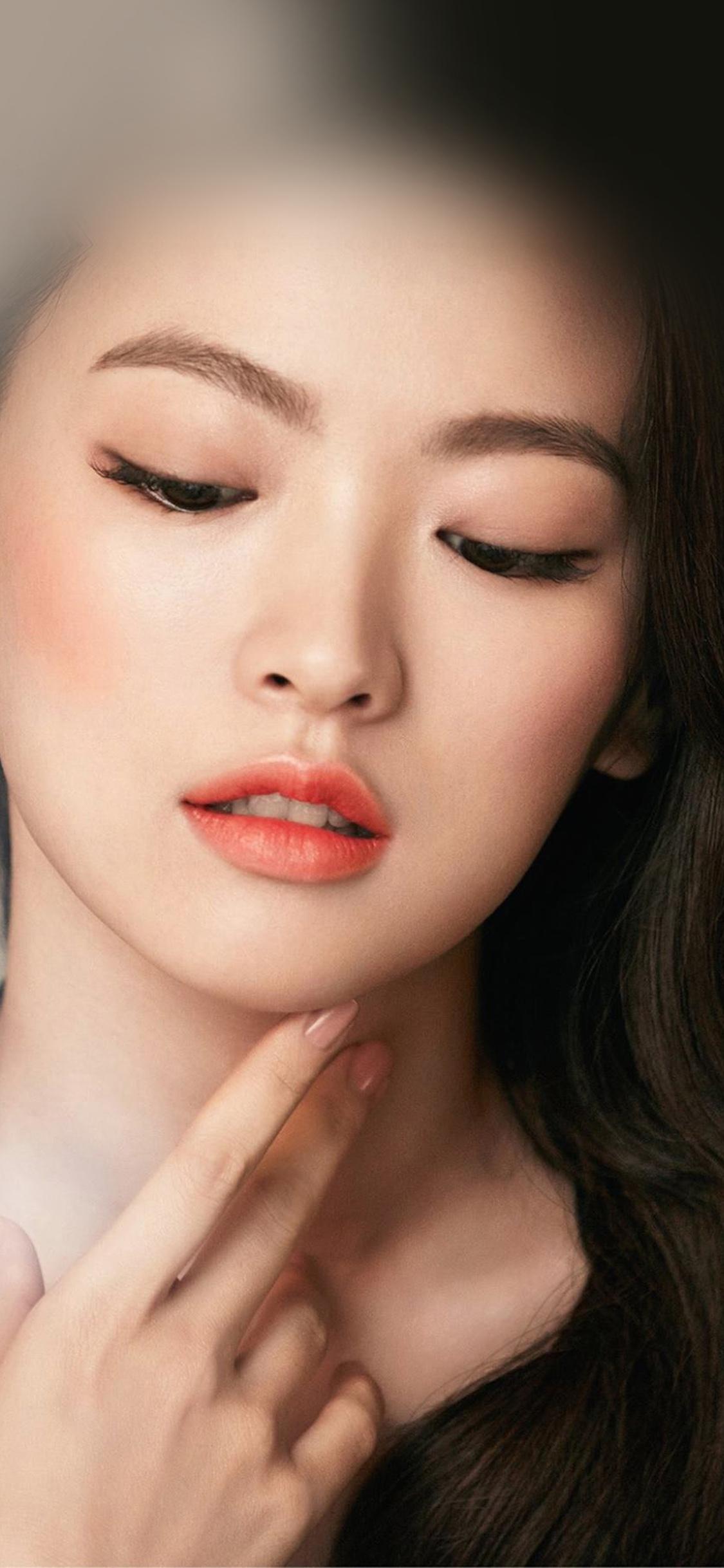 iPhoneXpapers.com-Apple-iPhone-wallpaper-hn65-asian-girl-face-dark-dress