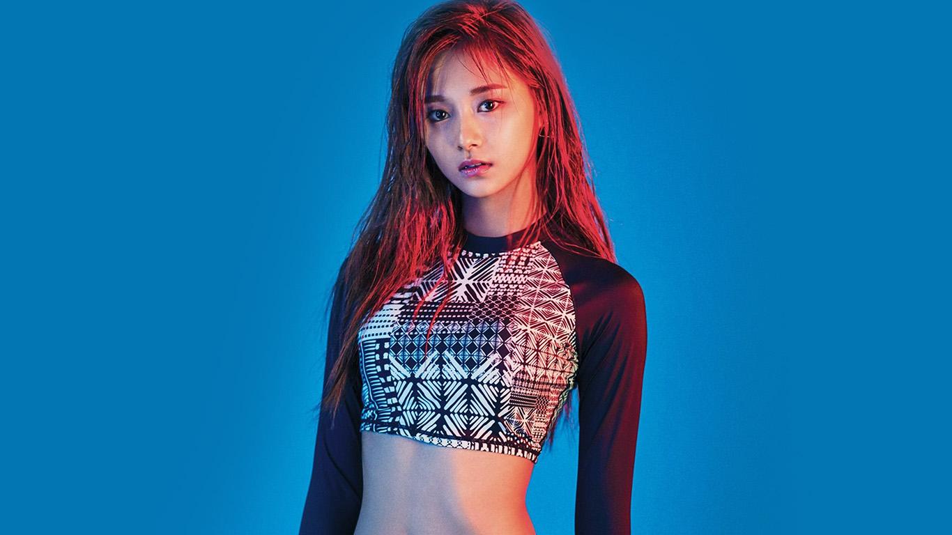 hn87-twice-blue-summer-girl-kpop-wallpaper