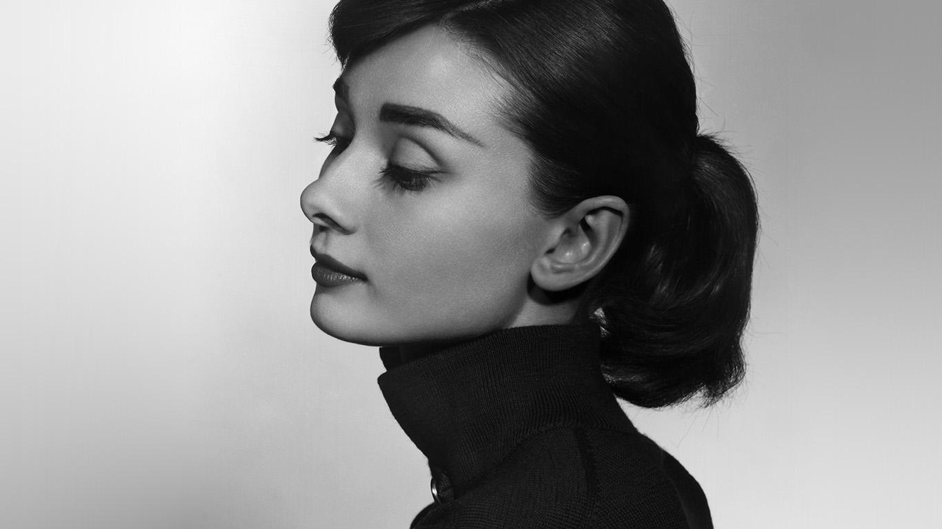 Wallpaper For Desktop Laptop Hn97 Audrey Hepburn Bw Film Dark