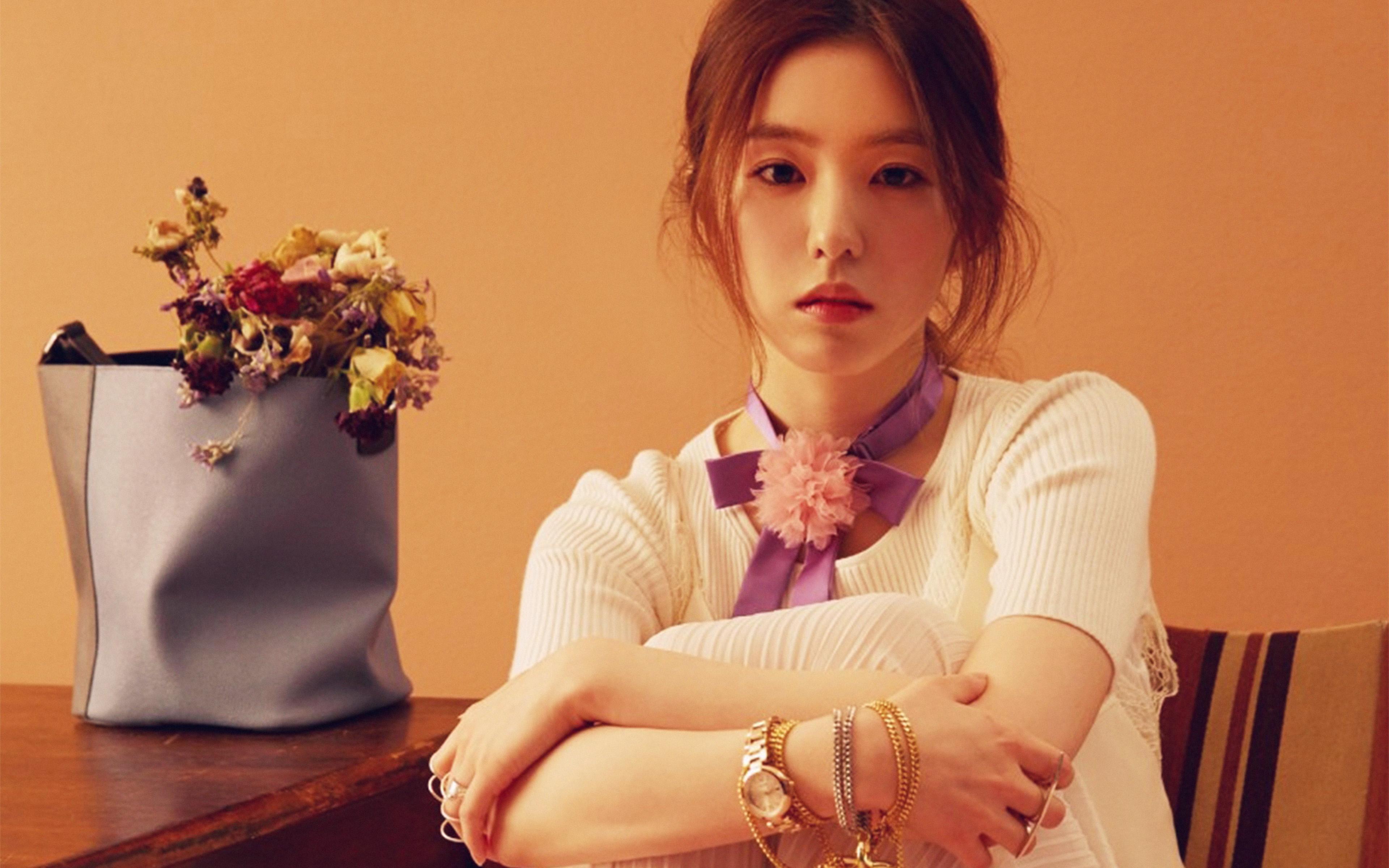 Ho54 Asian Girl Music Red Kpop Wallpaper