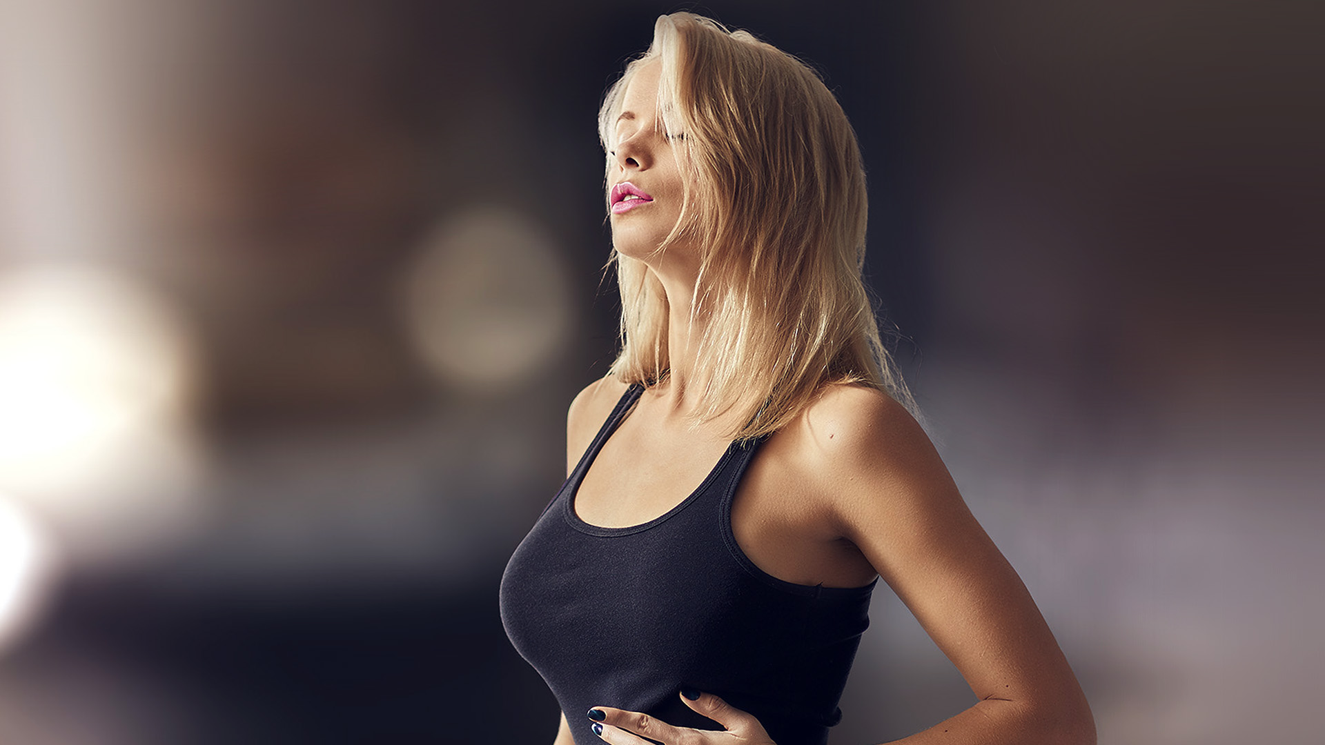 Ho60 Girl Sexy Woman Model Blonde Wallpaper