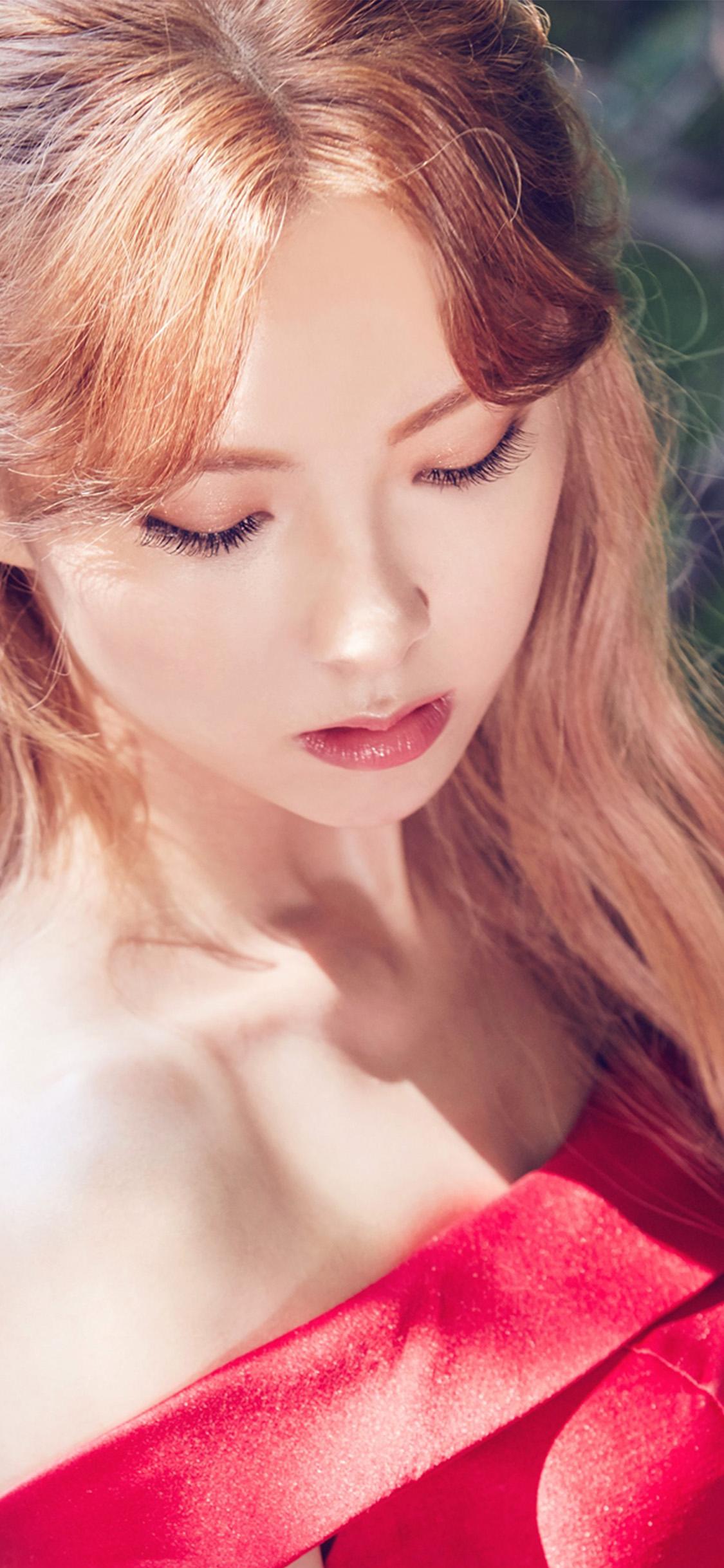 iPhonexpapers.com-Apple-iPhone-wallpaper-ho83-woman-red-dress-kpop-girl
