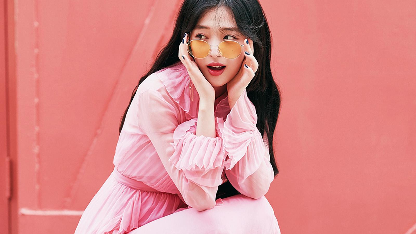 ho95-sulli-girl-kpop-pink-wallpaper