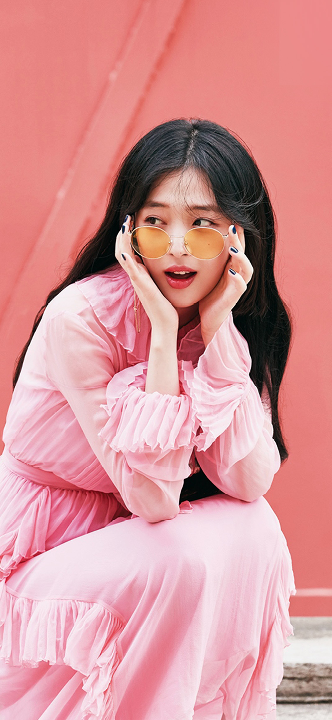 iPhonexpapers.com-Apple-iPhone-wallpaper-ho95-sulli-girl-kpop-pink