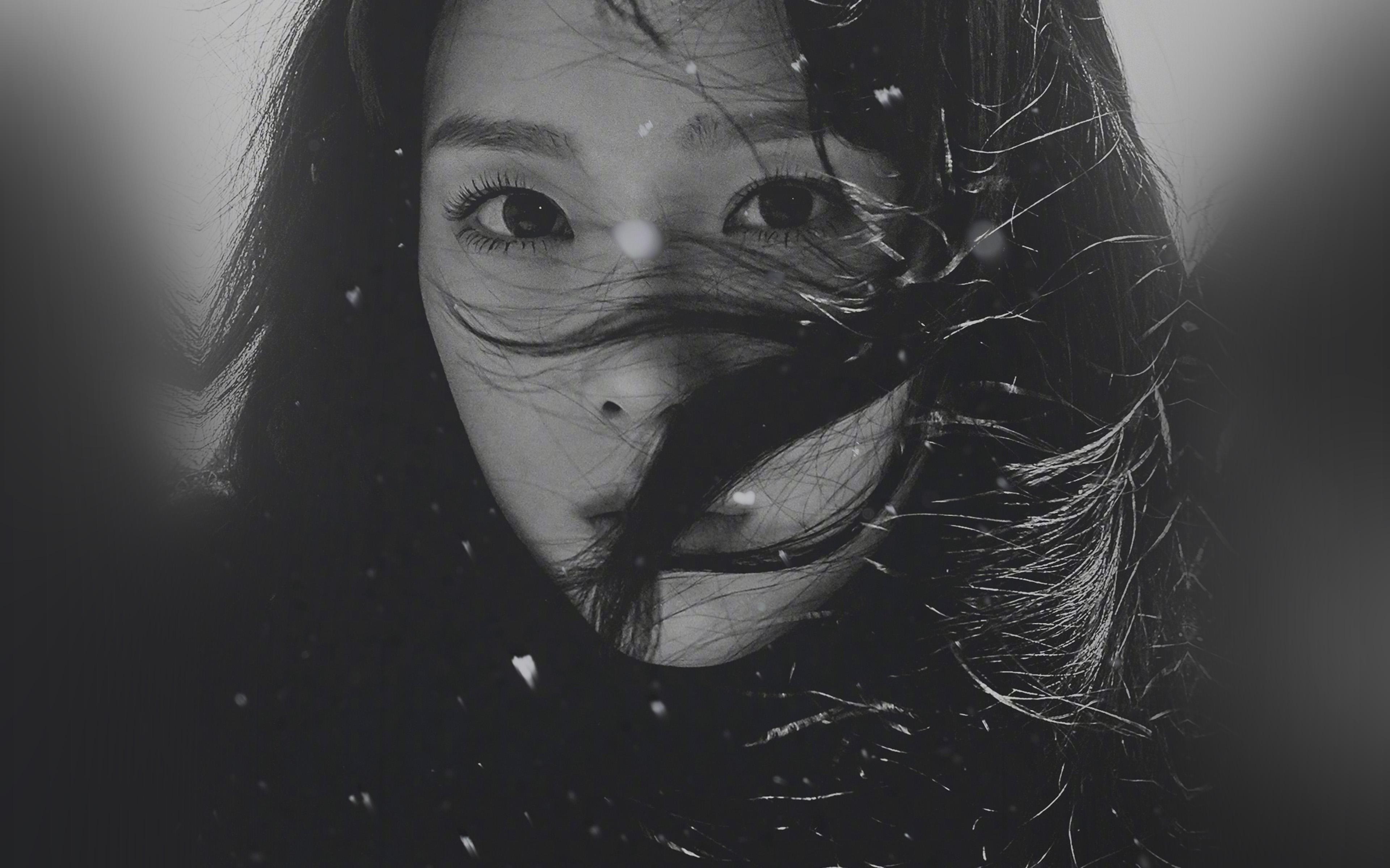 Ho96 Kpop Taeyeon Girl Bw Dark Snsd Wallpaper