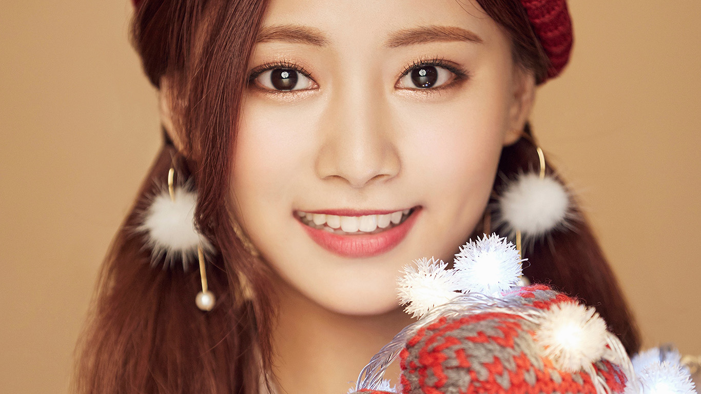 Wallpaper For Desktop Laptop Ho99 Christmas Girl Twice Tzuyu Happy