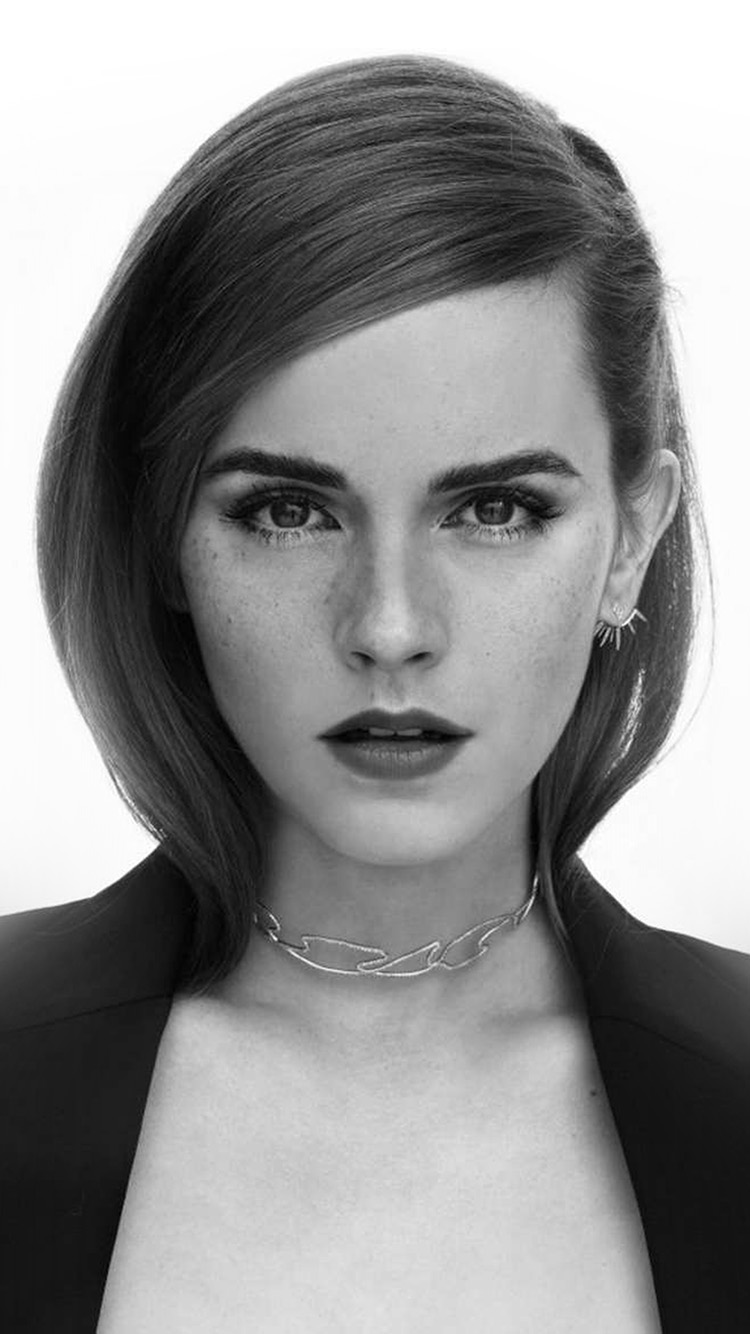 Papers.co-iPhone5-iphone6-plus-wallpaper-hp06-emma-waton-girl-bw-celebrity