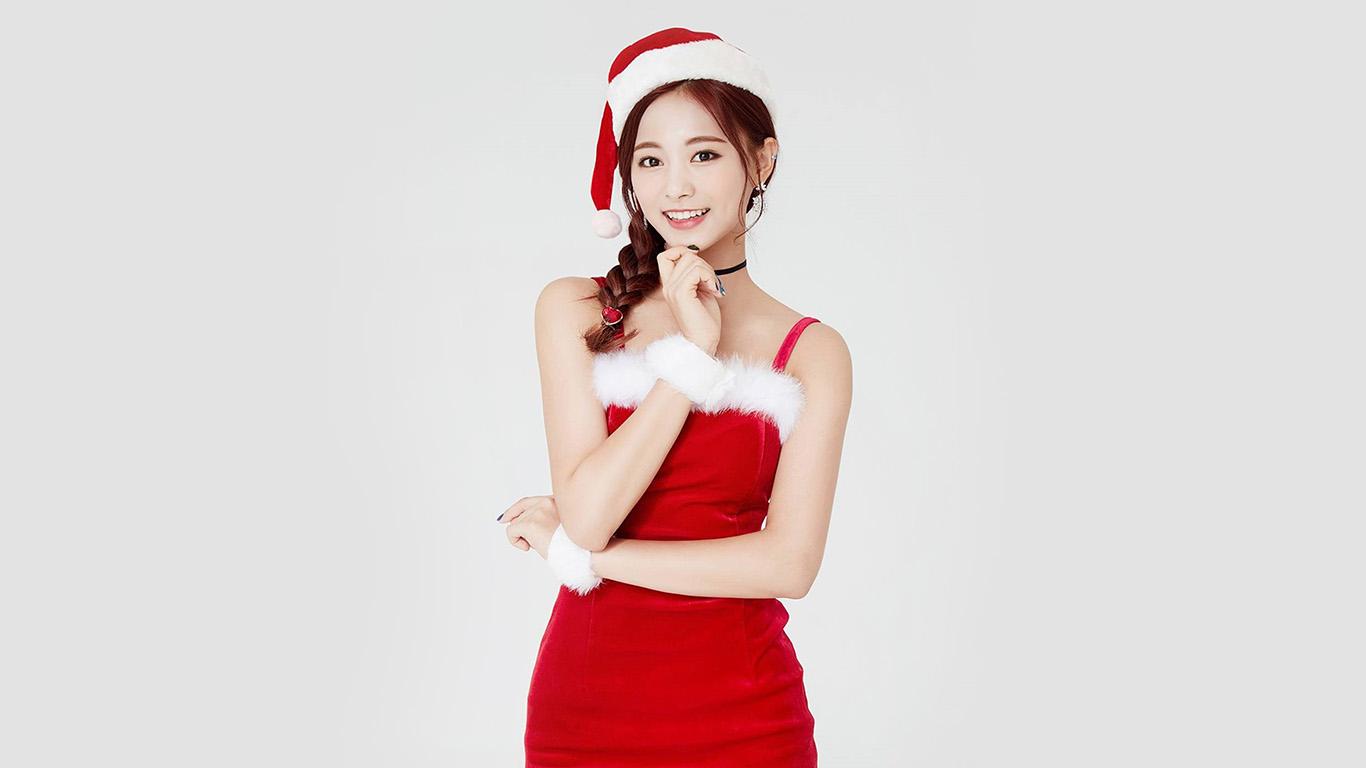 Wallpaper For Desktop Laptop Hp14 Twice Tzuyu Girl Christmas Kpop