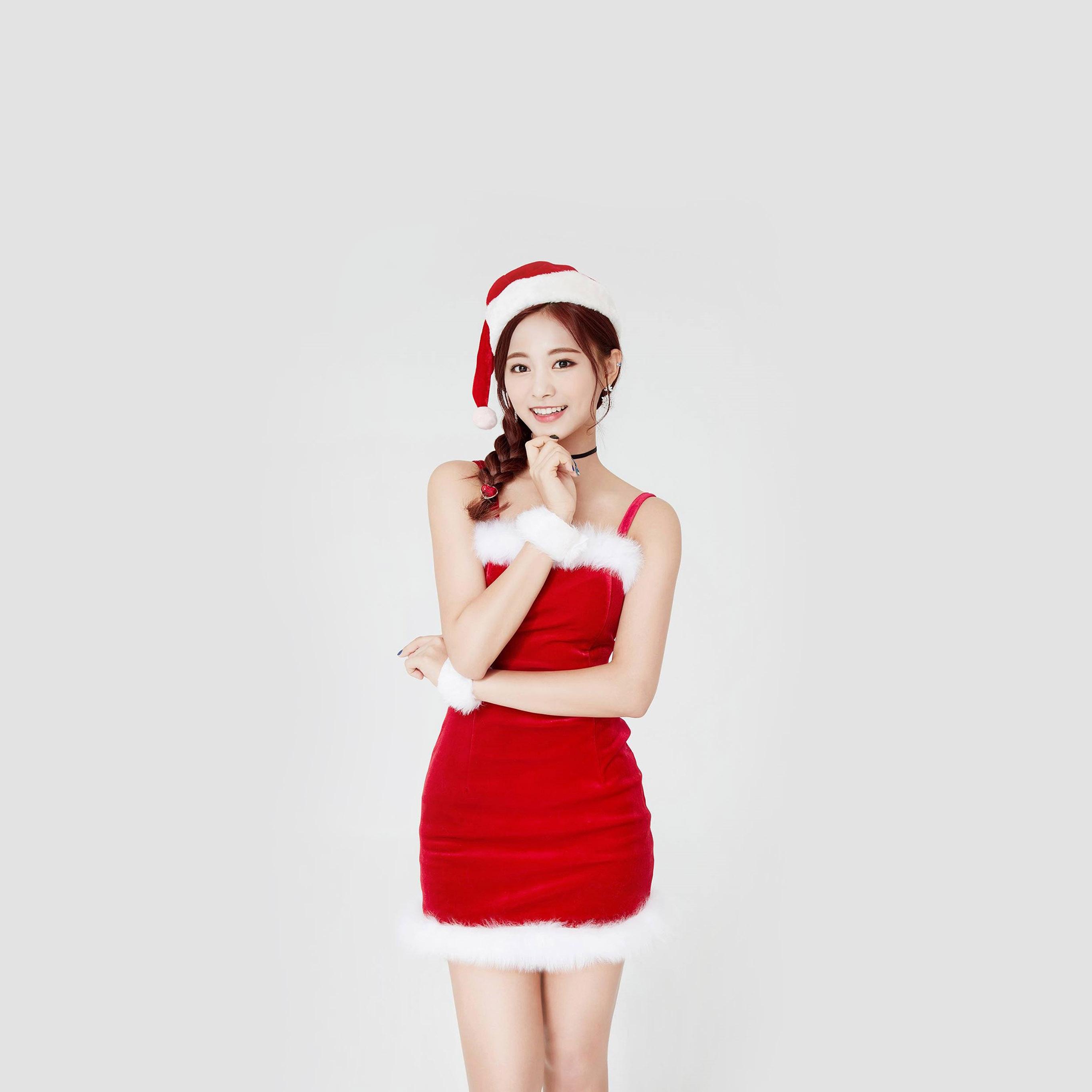Hp14 Twice Tzuyu Girl Christmas Kpop Wallpaper