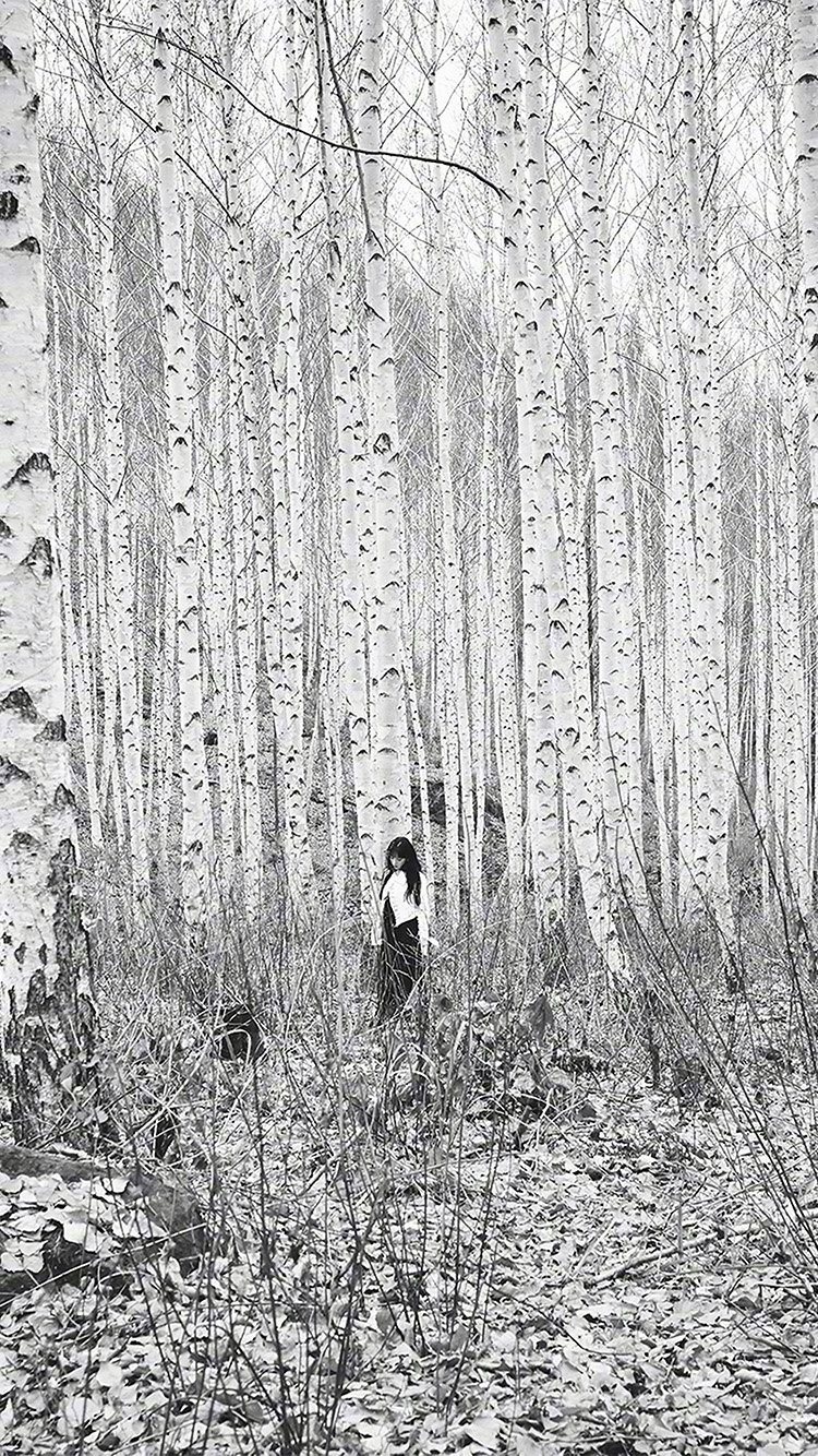 iPhone7papers.com-Apple-iPhone7-iphone7plus-wallpaper-hp18-bw-snsd-taeyeon-girl-winter-snow-tree