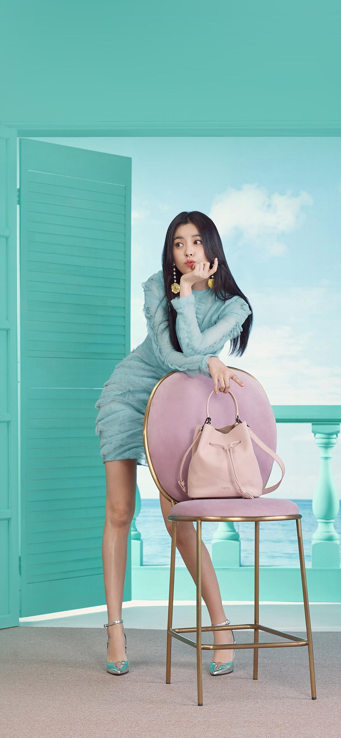 iPhonexpapers.com-Apple-iPhone-wallpaper-hp64-hyojoo-girl-kpop-asian-green-spring-dress