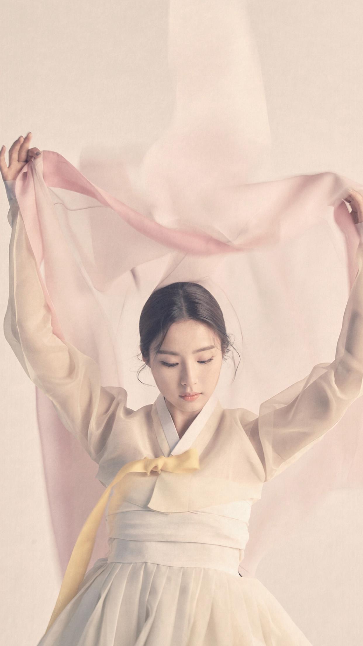 Hp65 Korean Asian Kpop Girl Dress Pink Wallpaper