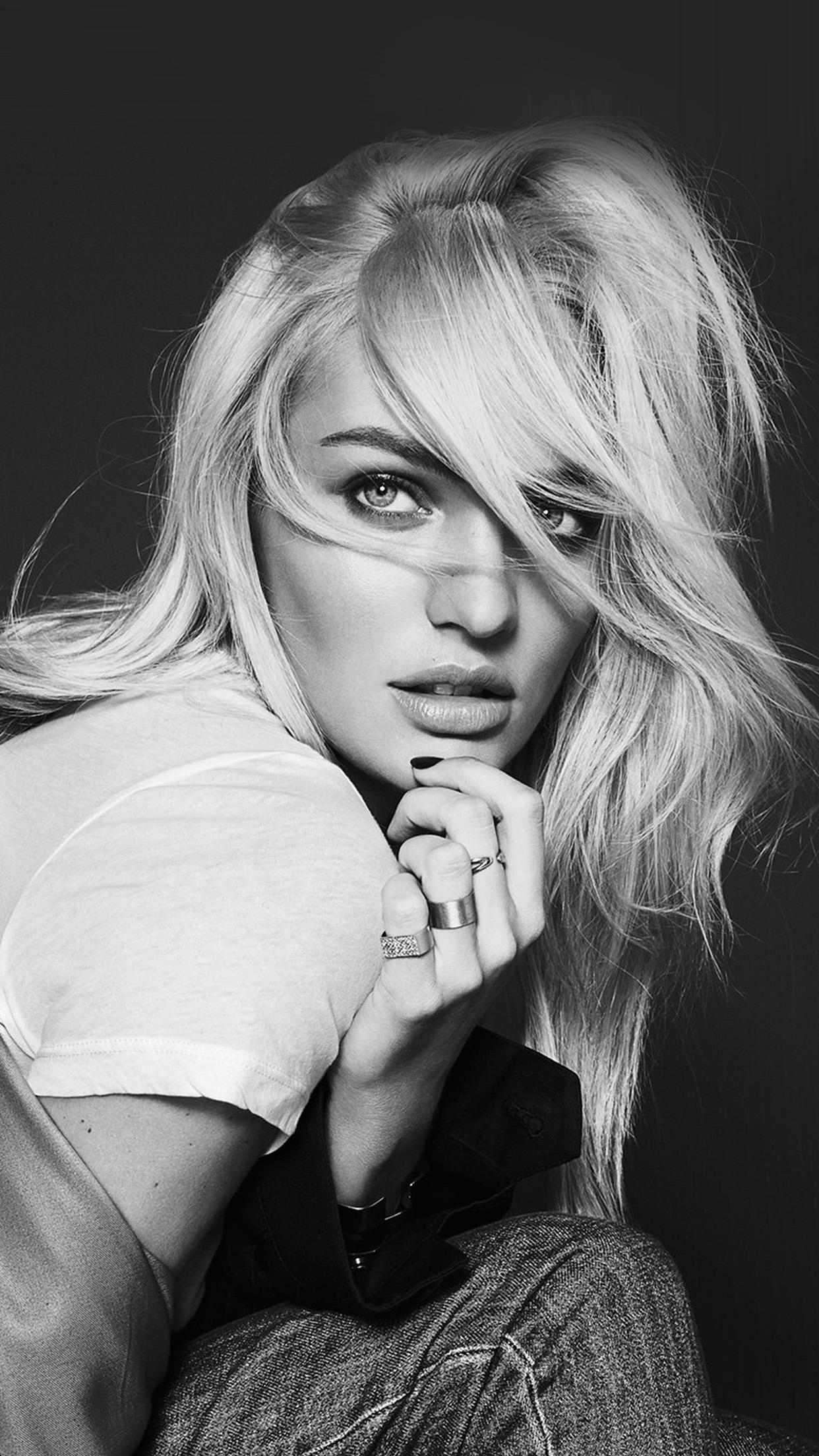 Hp68 Model Girl Candice Swanepoel Bw Wallpaper