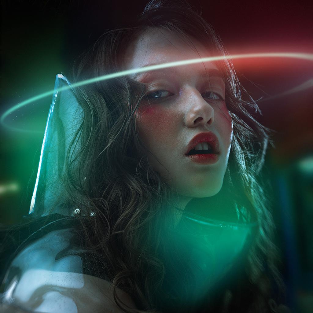 Hp78 Cyber Girl Beauty Space Wallpaper