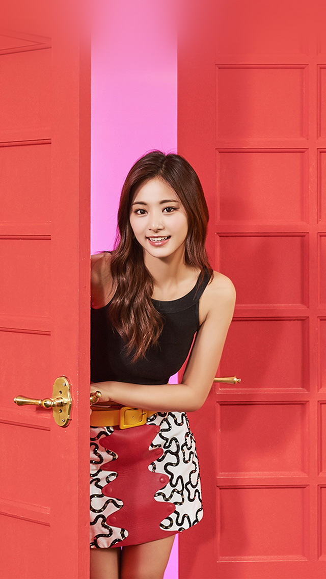 freeios8.com-iphone-4-5-6-plus-ipad-ios8-hq27-twice-girl-tzuyu-red-music-kpop-aisan