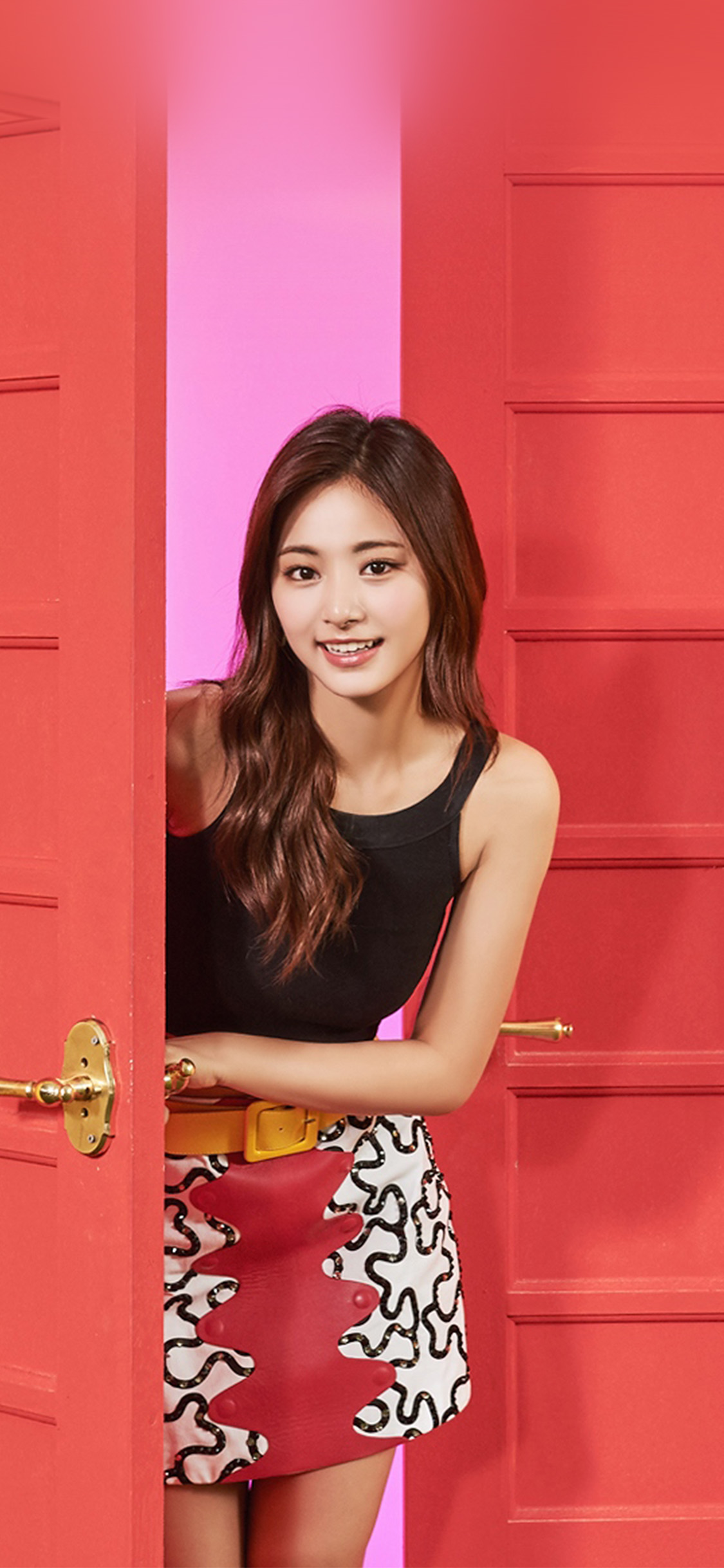 Iphonexpapers Com Iphone X Wallpaper Hq27 Twice Girl Tzuyu Red