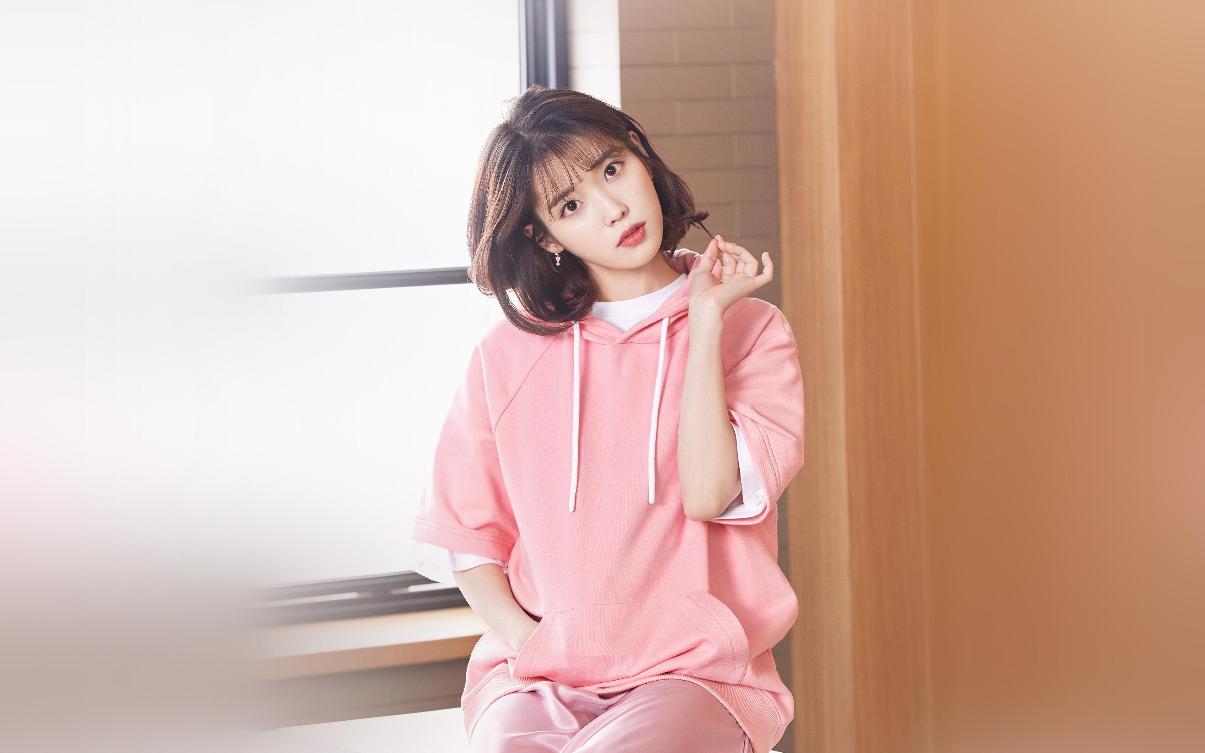 Wallpaper For Desktop Laptop Hq31 Iu Girl Pink Kpop