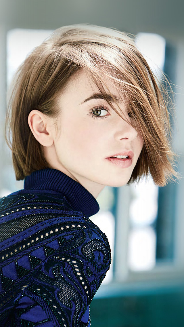 freeios8.com-iphone-4-5-6-plus-ipad-ios8-hq54-lily-collins-girl-blue-cute