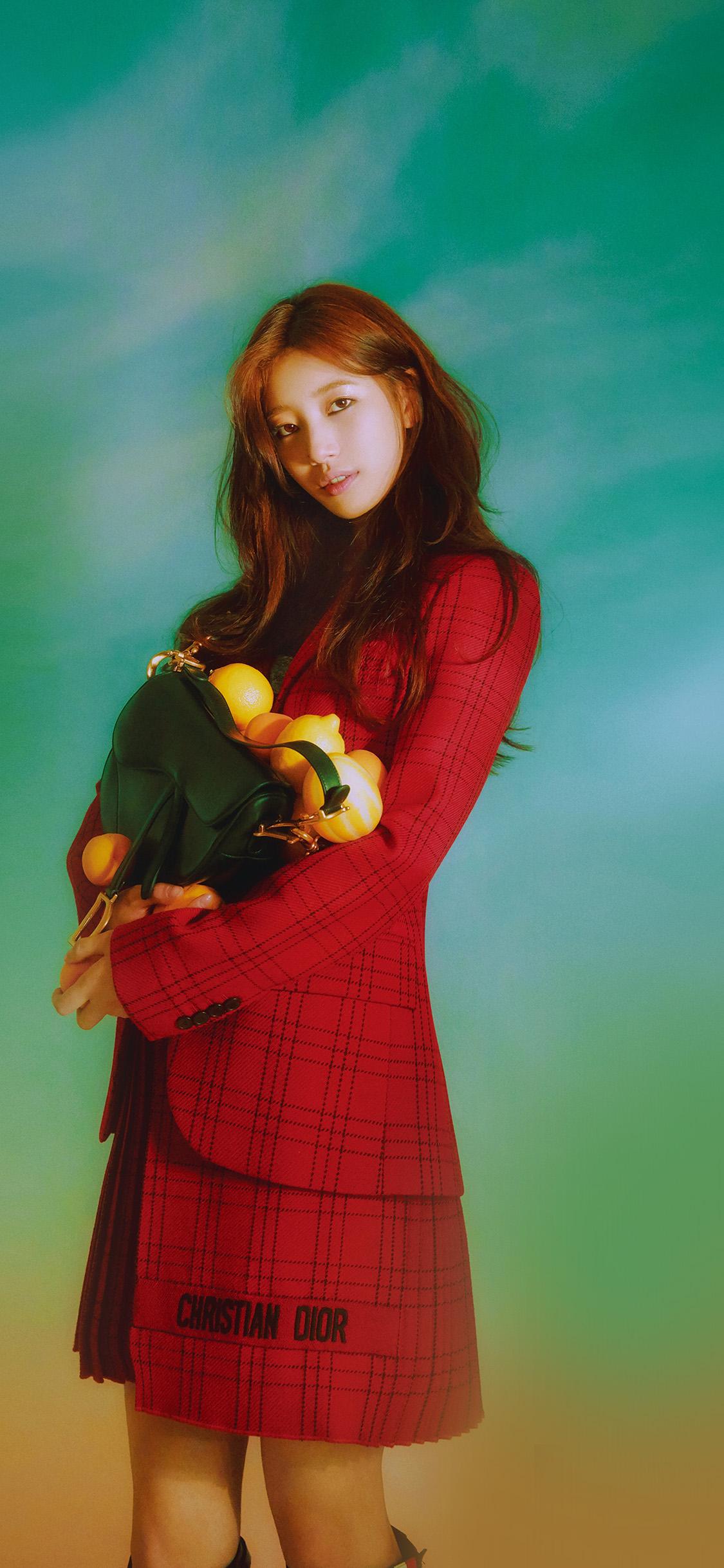 iPhonexpapers.com-Apple-iPhone-wallpaper-hq97-girl-kpop-suji-flower-green
