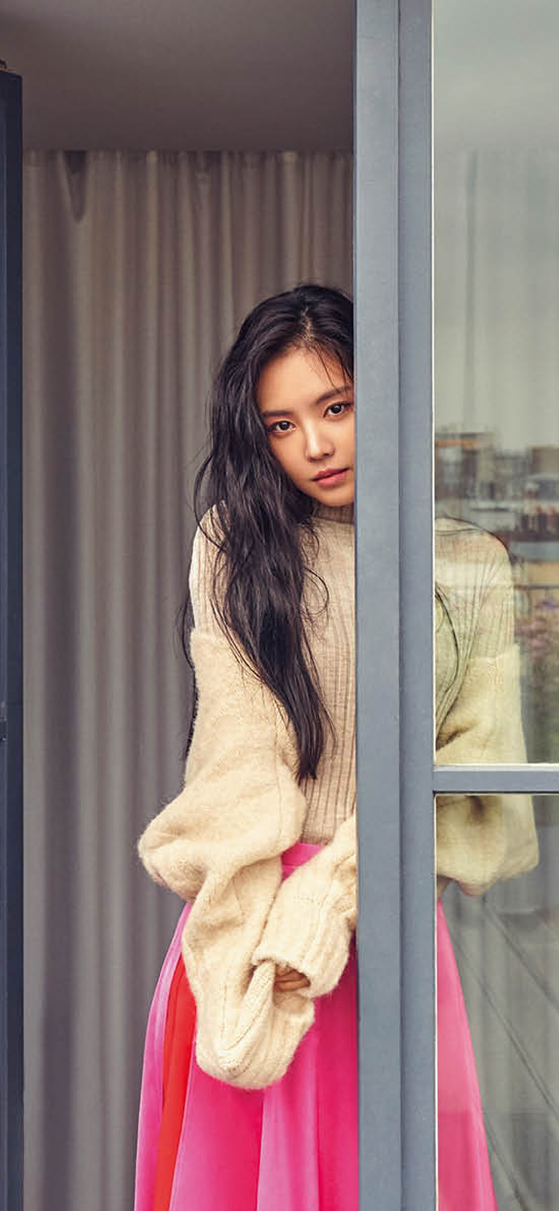 iPhonexpapers.com-Apple-iPhone-wallpaper-hr17-girl-gaze-kpop-skirt