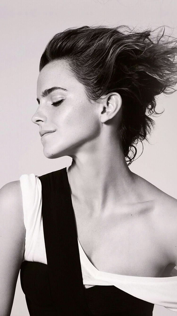 iPhone7papers.com-Apple-iPhone7-iphone7plus-wallpaper-hr27-emma-watson-girl-bw-film-actress