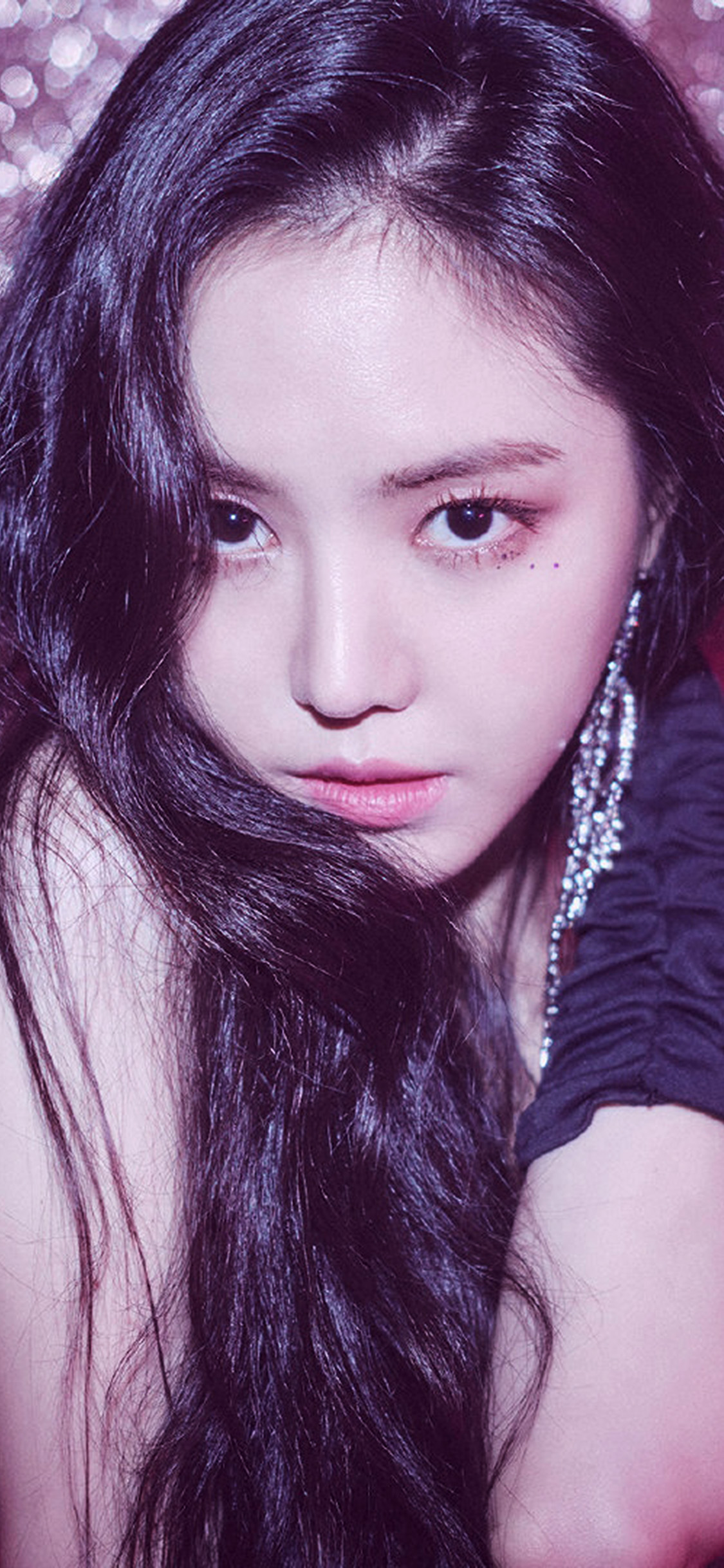 iPhonexpapers.com-Apple-iPhone-wallpaper-hr54-kpop-girl-pink-face-bling