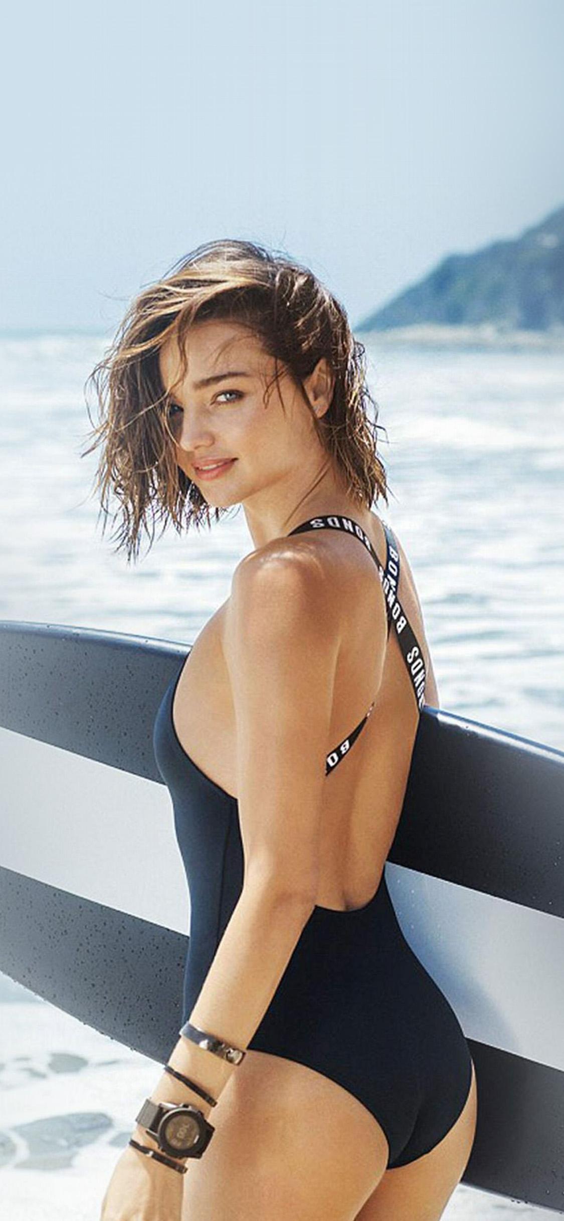 iPhonexpapers.com-Apple-iPhone-wallpaper-hs34-girl-model-miranda-kerr-summer-bikini-beach-sea