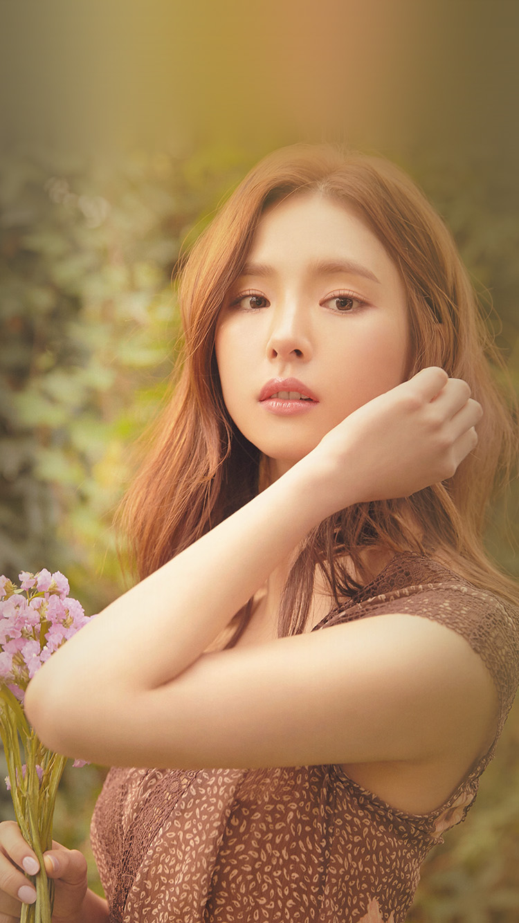 Papers.co-iPhone5-iphone6-plus-wallpaper-hs53-girl-kpop-sekyung-shin-flower-spring