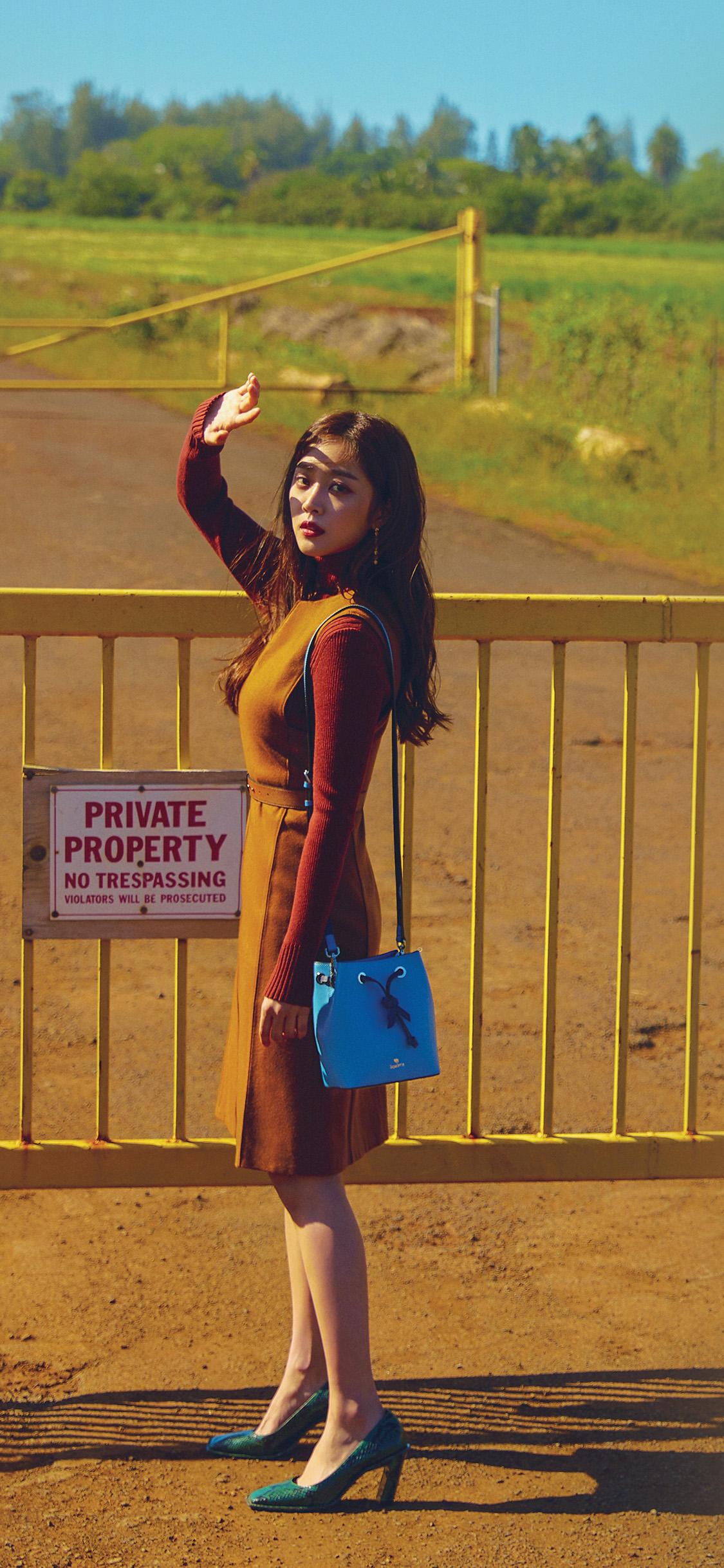 iPhonexpapers.com-Apple-iPhone-wallpaper-hs73-kpop-girl-asian-summer-sunny-street-orange